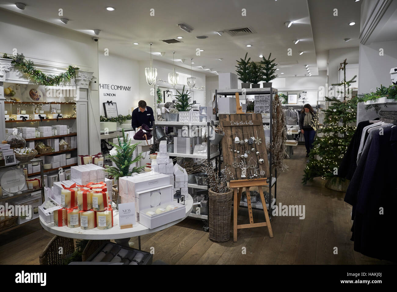 Manchester White Companyl King Street   Interior shop retail store outlet   Quality deluxe luxury posh well hi-class - Stock Image