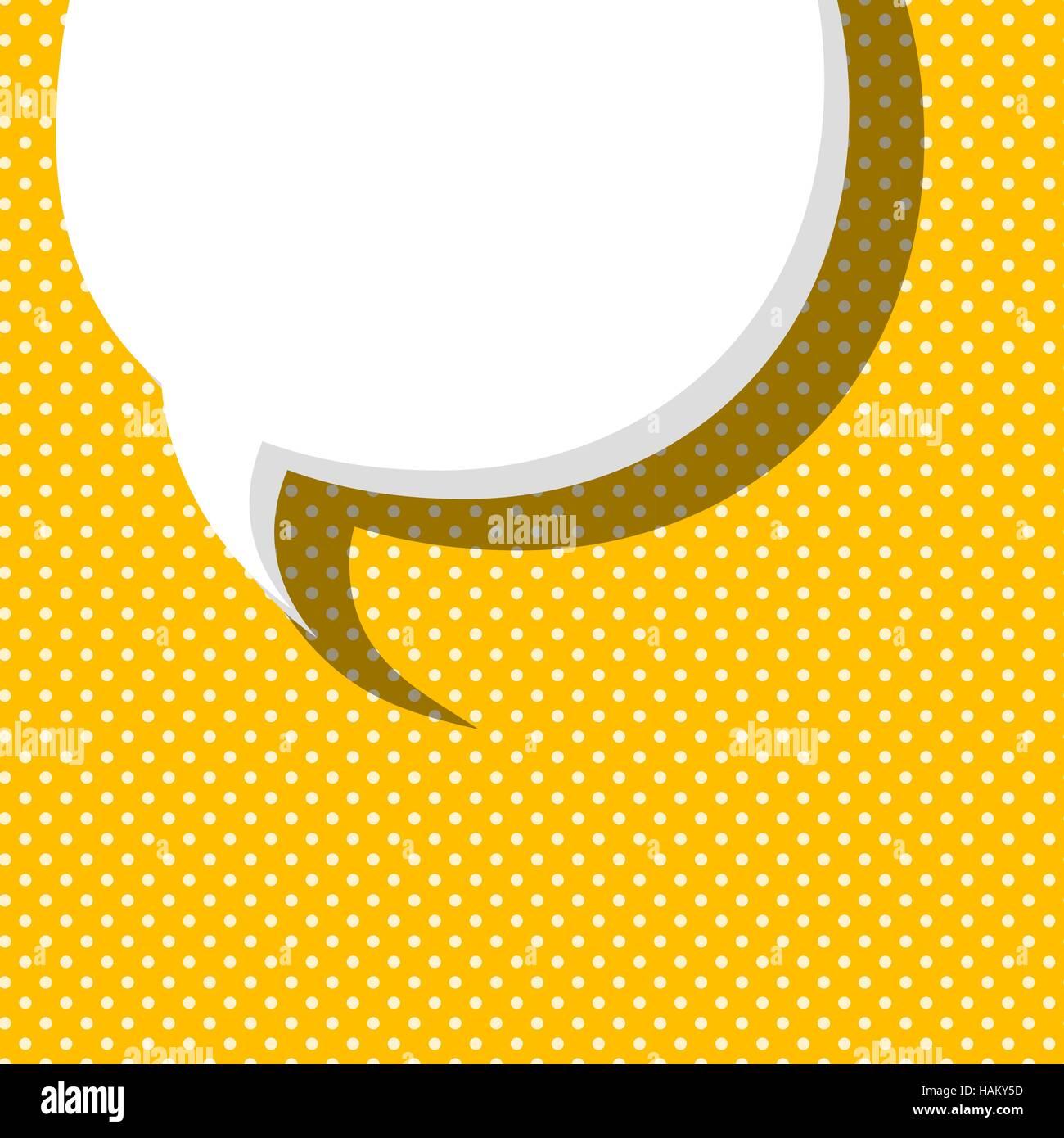 Blank comic text balloon template. Comic speech bubbles halftone dot ...