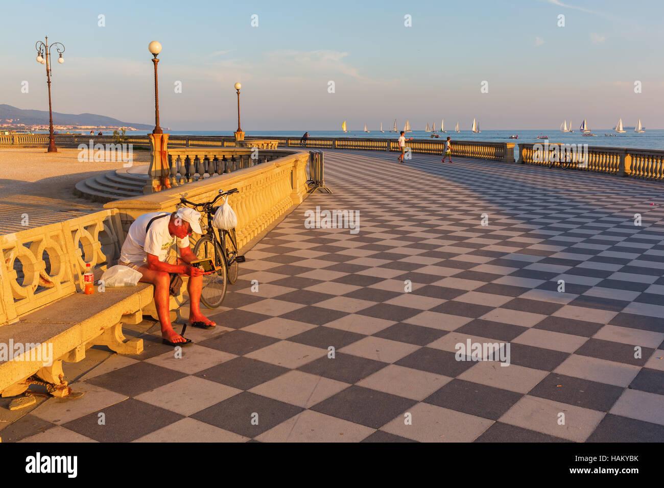 Terrazza Mascagni in Livorno, Italy Stock Photo: 127057719 - Alamy