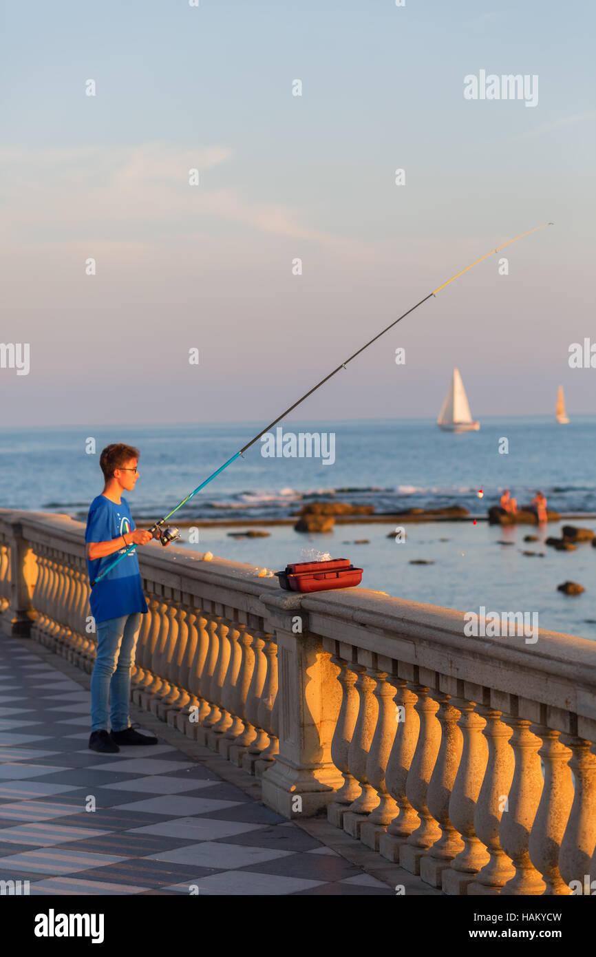 Terrazza Mascagni in Livorno, Italy Stock Photo: 127057753 - Alamy