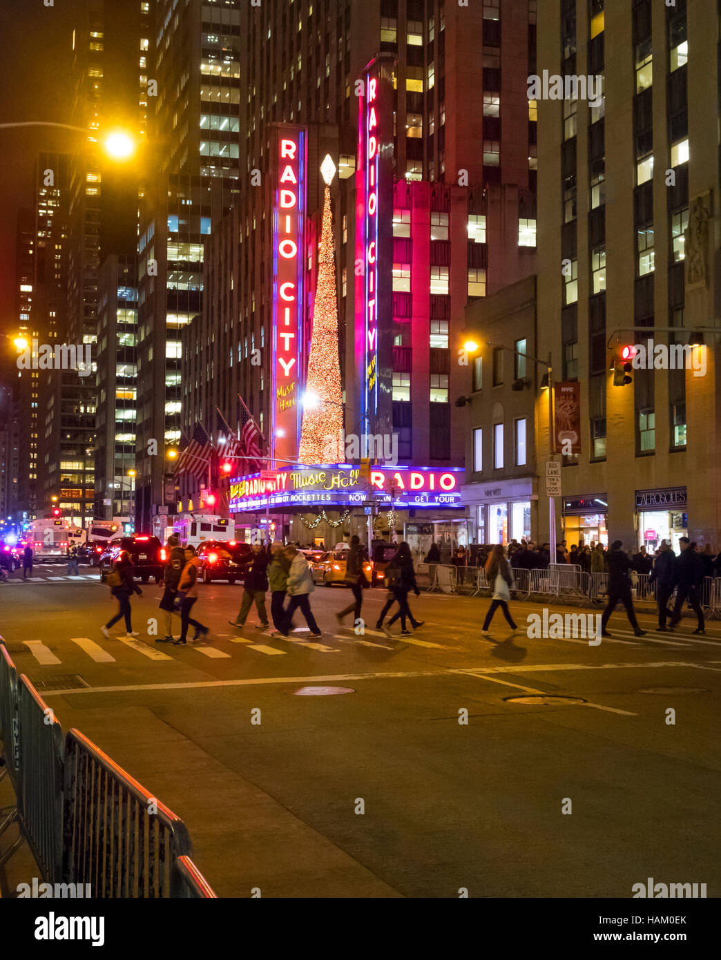 Radio City Music Hall in New York City - Stock Image