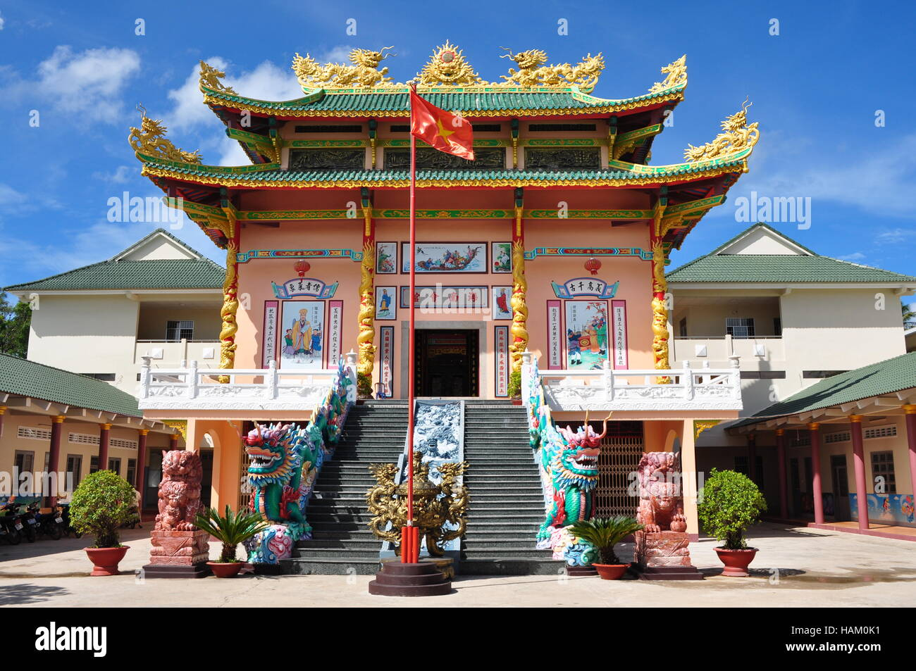 Chinese temple in Duong Dong, Phu Quoc, Vietnam - Stock Image