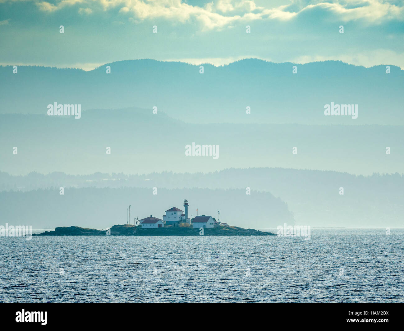 Lighthouse on Vancouver Island - Stock Image
