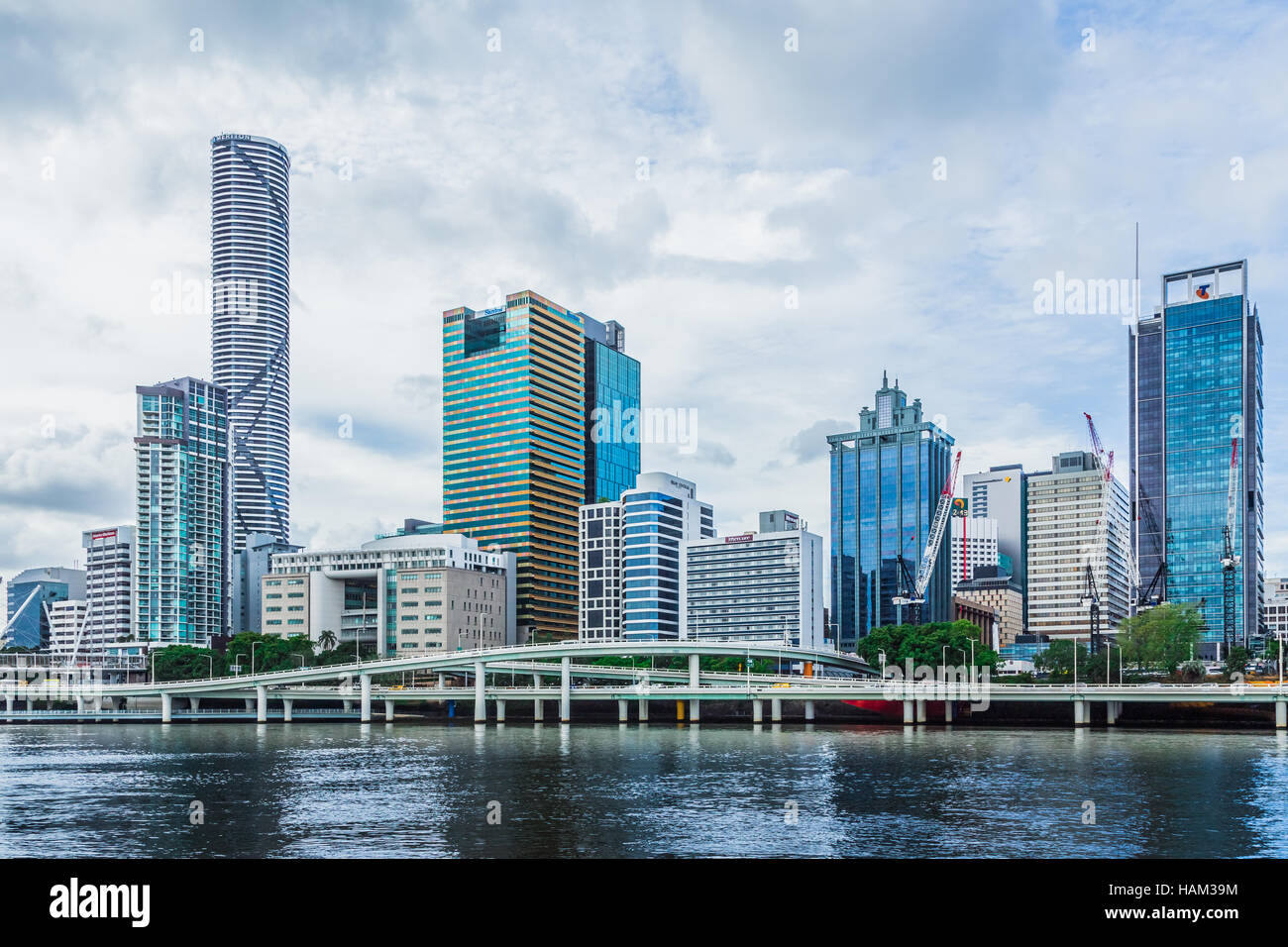 Brisbane, Queensland, Australia cityscape, as seen from the South Bank - Stock Image