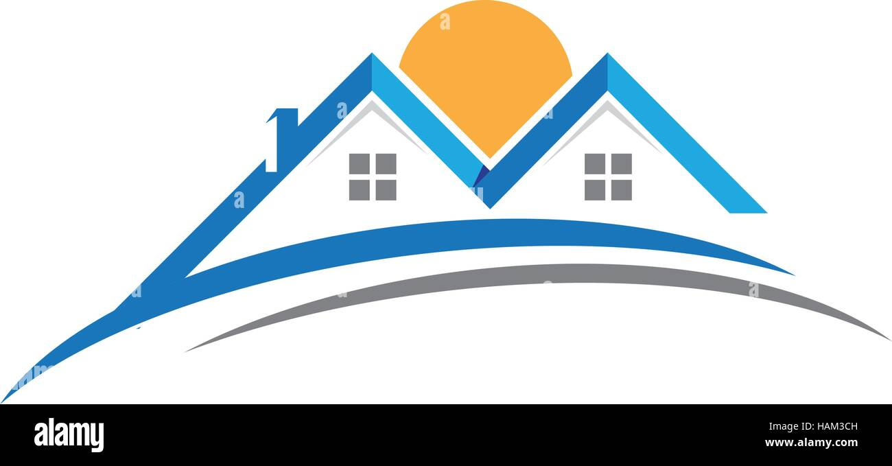 Real Art Design Group Inc : Home and building business property logo template stock