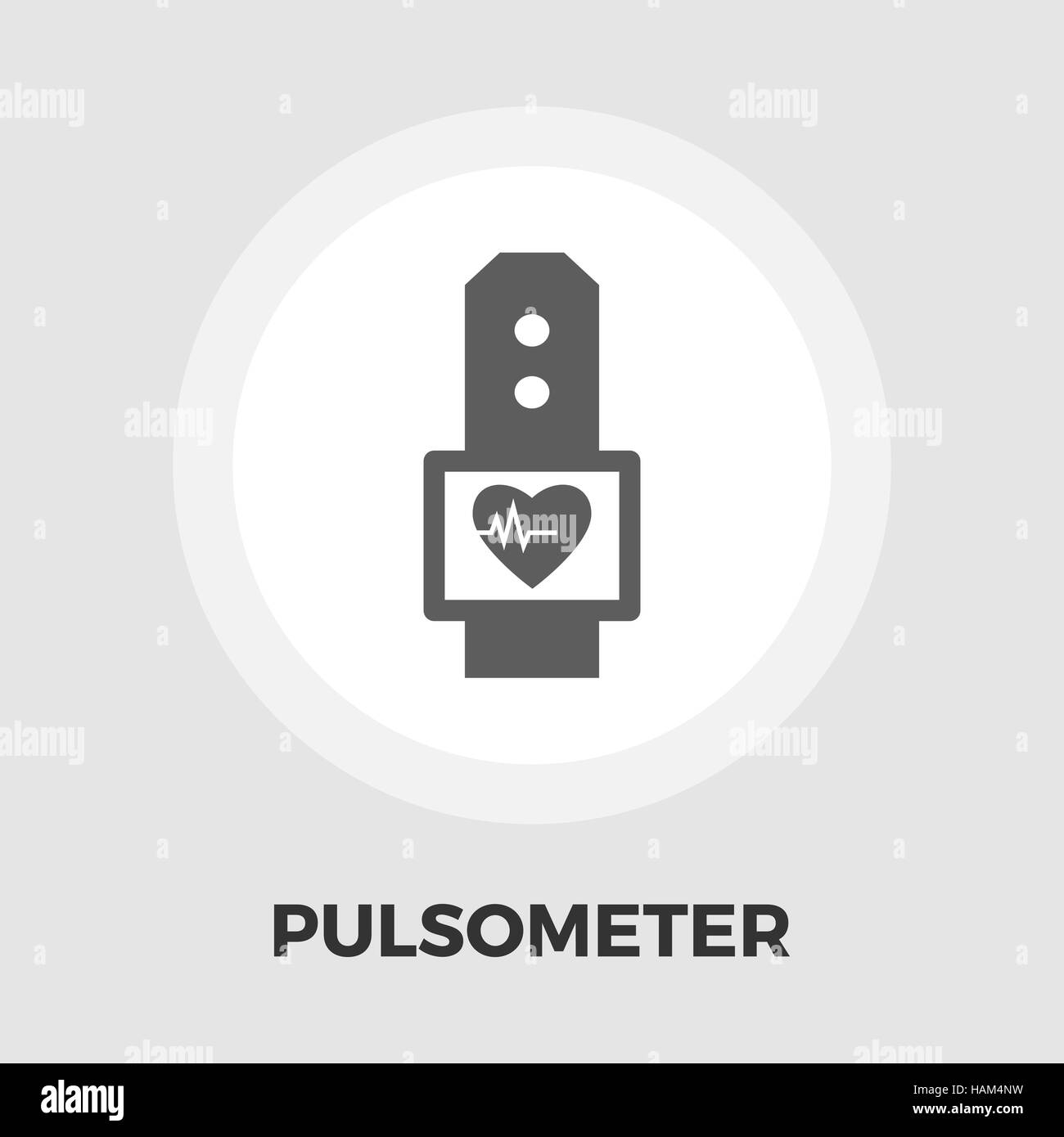 Pulsometer icon vector. Flat icon isolated on the white background. Editable EPS file. Vector illustration. - Stock Image