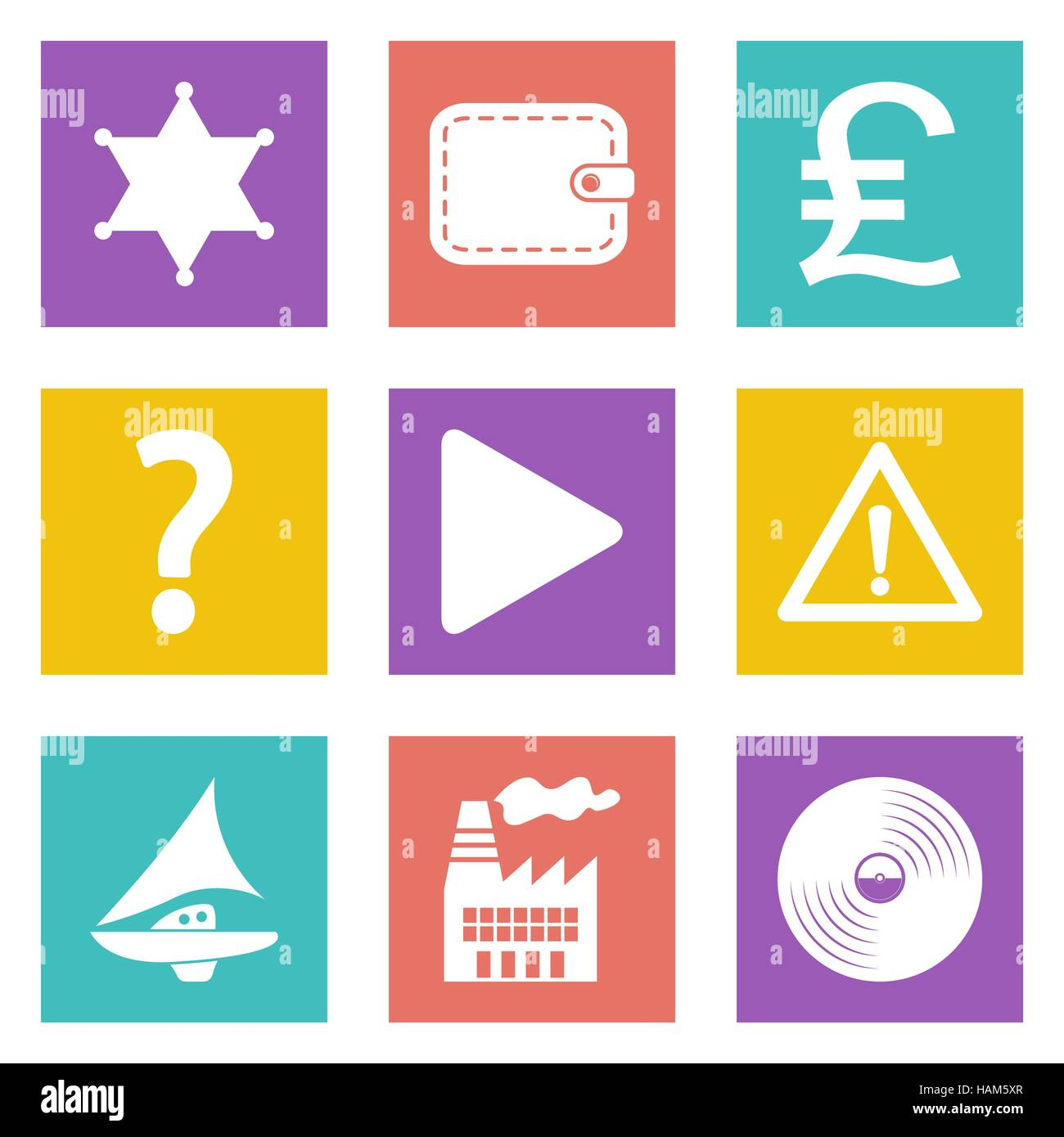 Color icons for Web Design and Mobile Applications set 24. Vector illustration. - Stock Vector