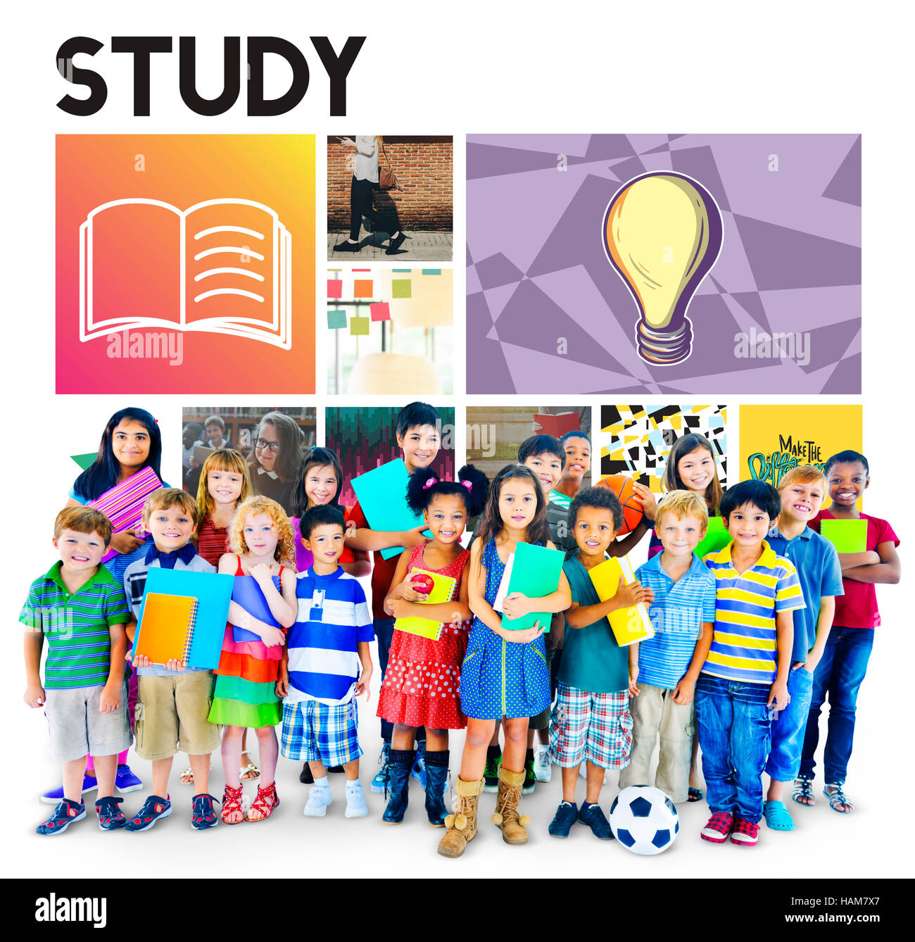 Academic Education Learning Wisdom Graphic Concept - Stock Image