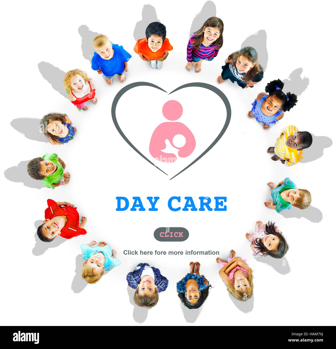 Day Care Babysitter Nanny Nursery Love Motherhood Concept - Stock Image