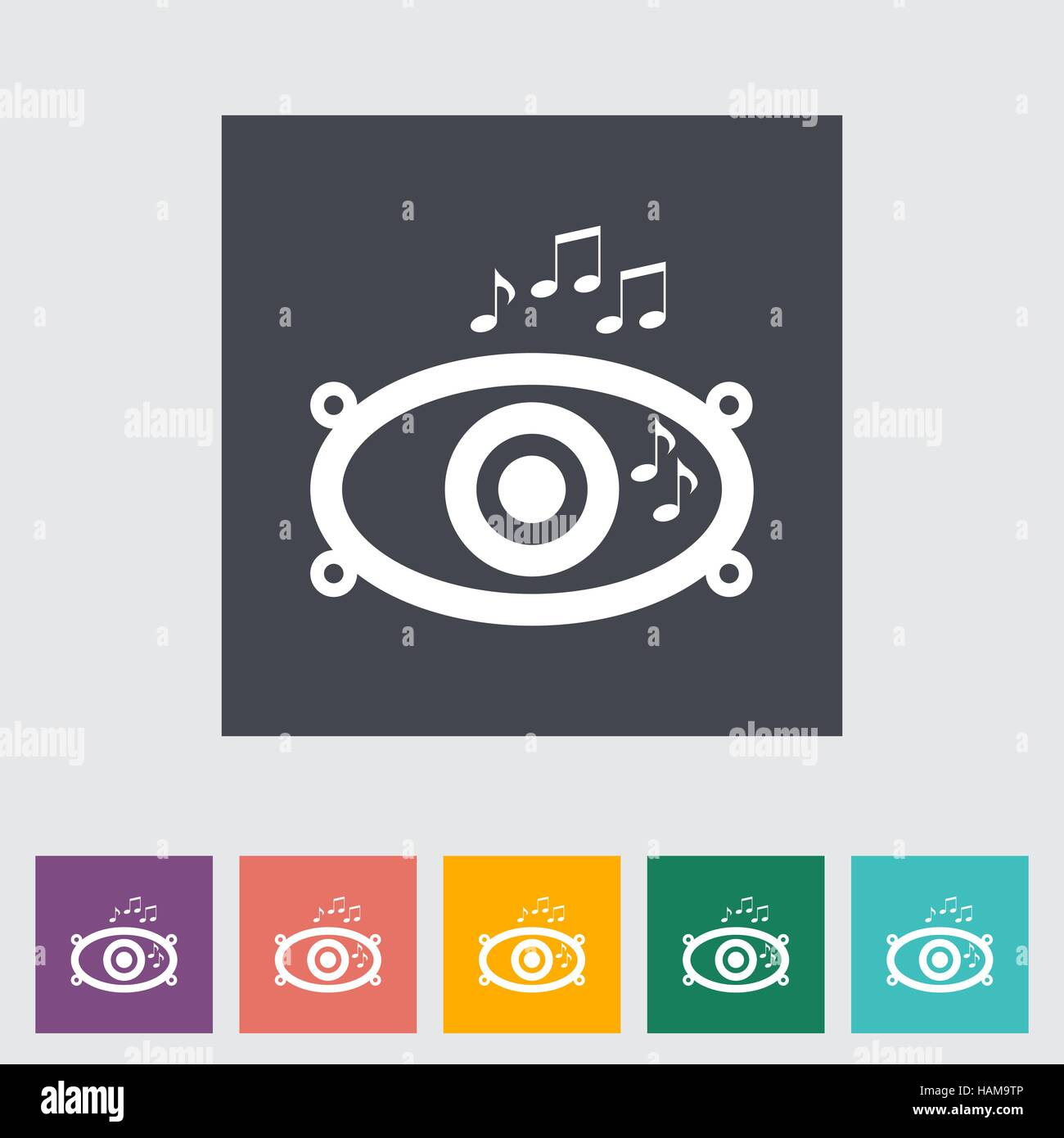 Icon of car speakers. Vector illustration. - Stock Image