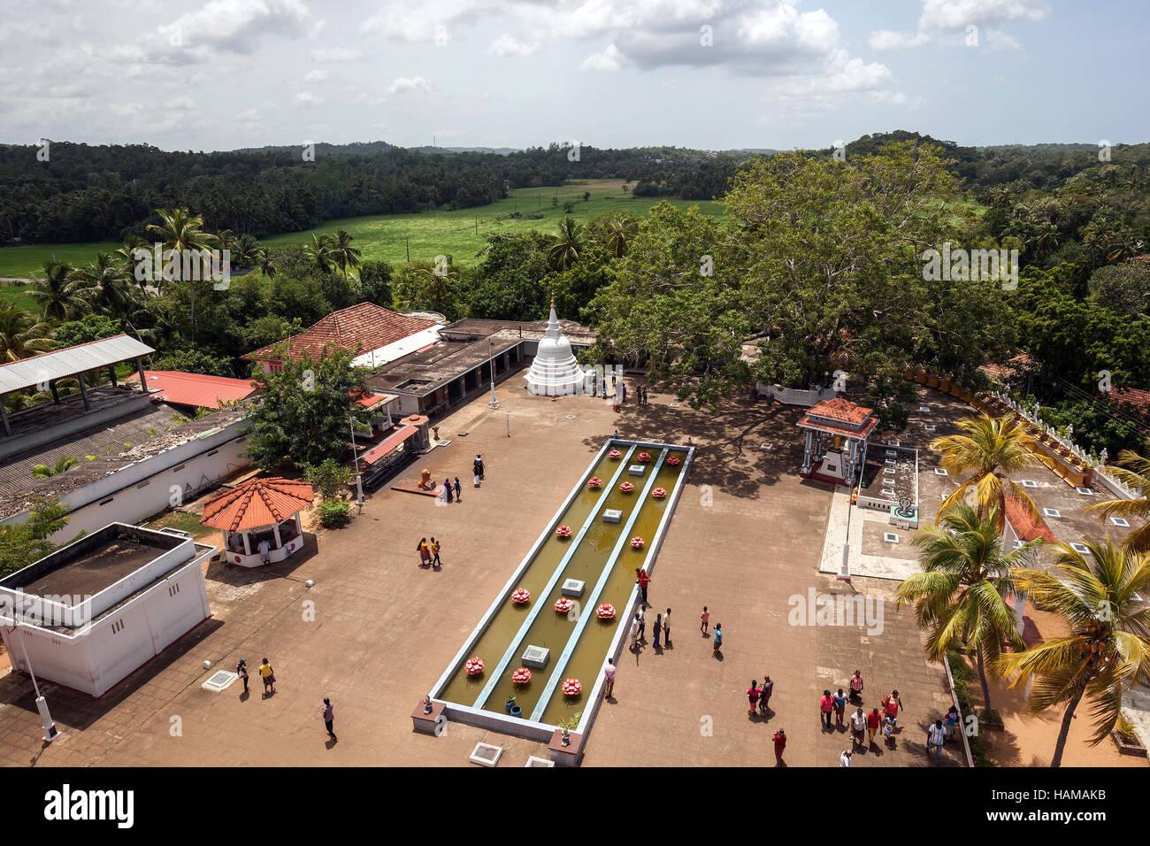 View of temple grounds, Weherahena Temple, Mata§ra, Southern Province, Sri Lanka - Stock Image