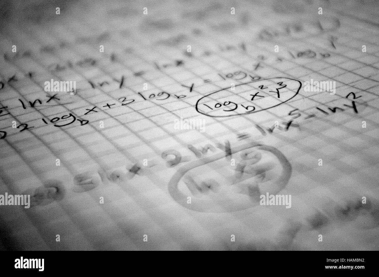 Abstract math scribble - Stock Image