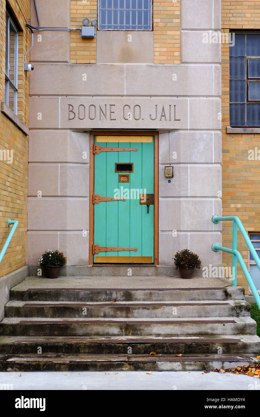 The door to the Boone County Jail in downtown Lebanon