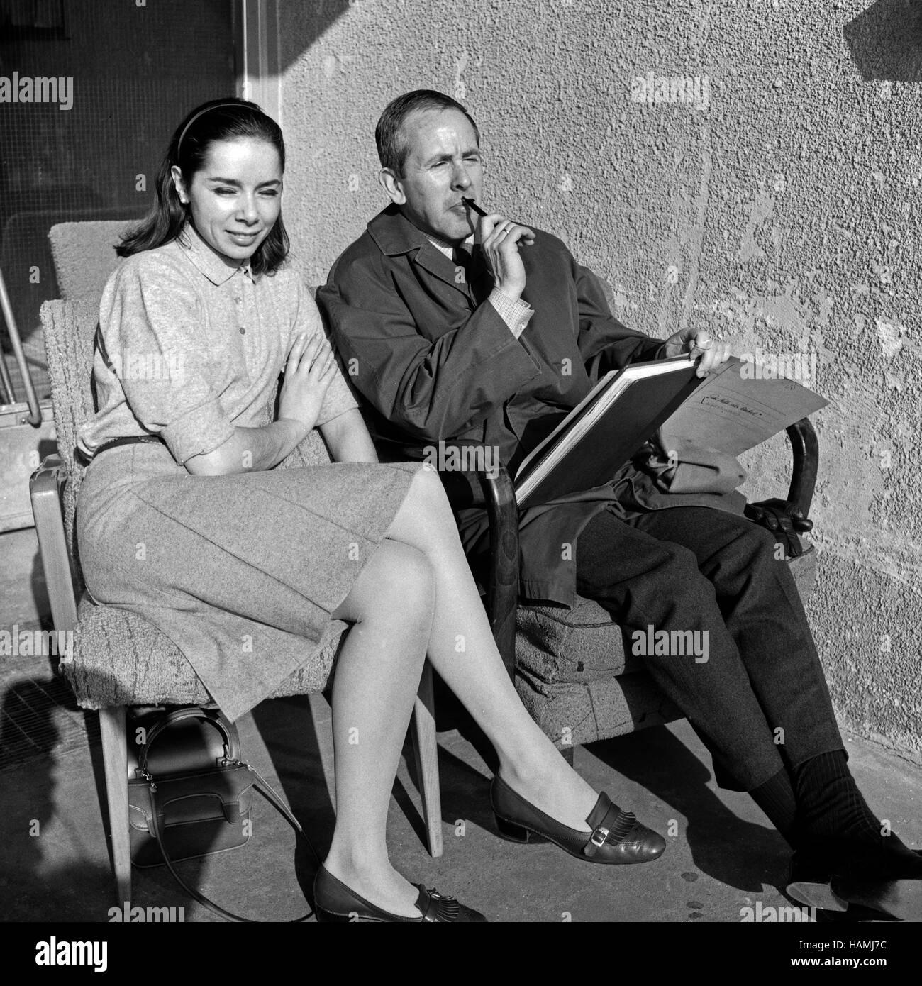 Der Neffe als Onkel, Fernsehfilm, Deutschland 1966, Regie: Hans-Christof Stenzel, die Darsteller Monika Peitsch - Stock Image