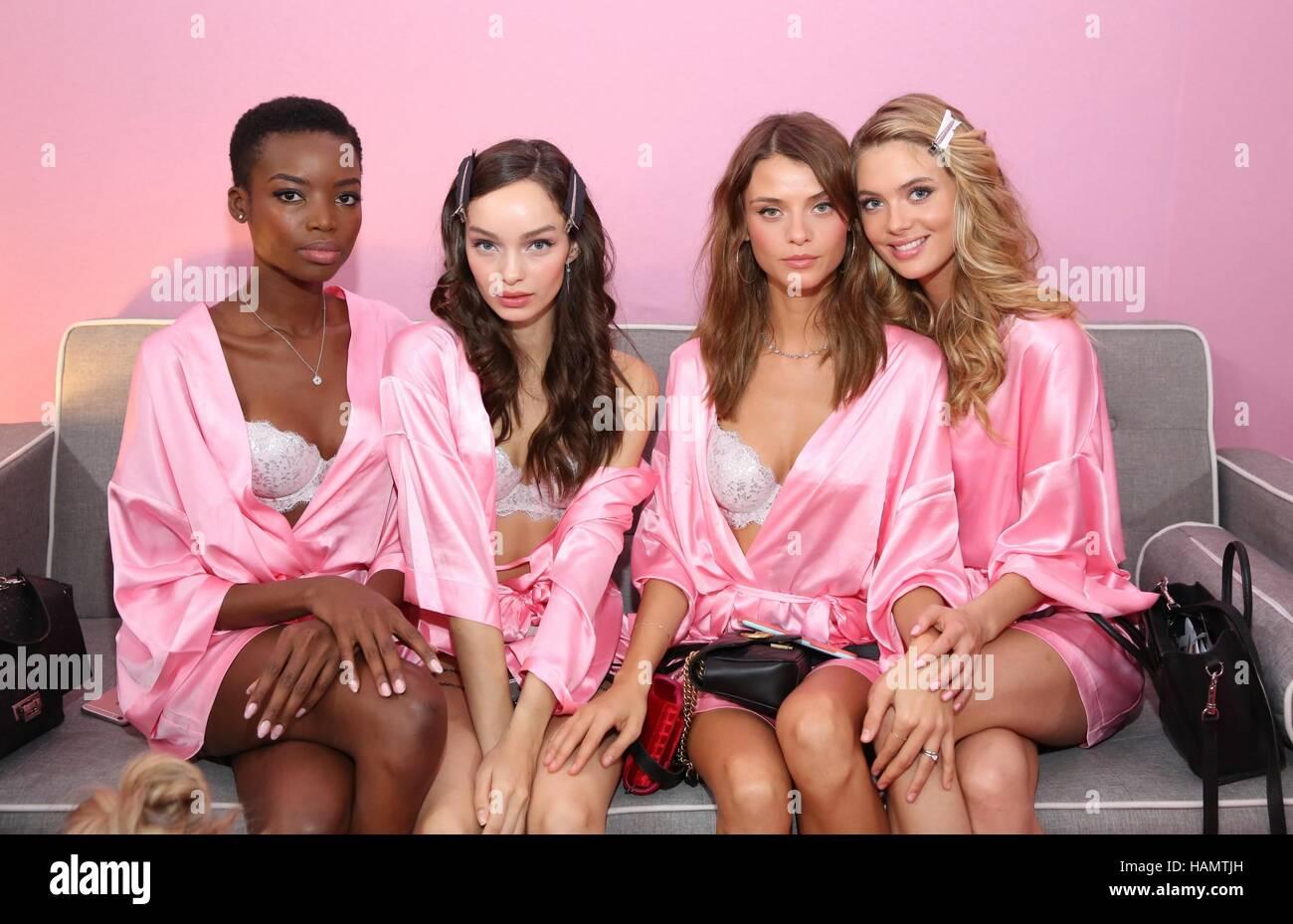 Paris, France. 30th Nov, 2016. Models backstage for 21st Annual Victoria's Secret Fashion Show 2016 Credit: - Stock Image