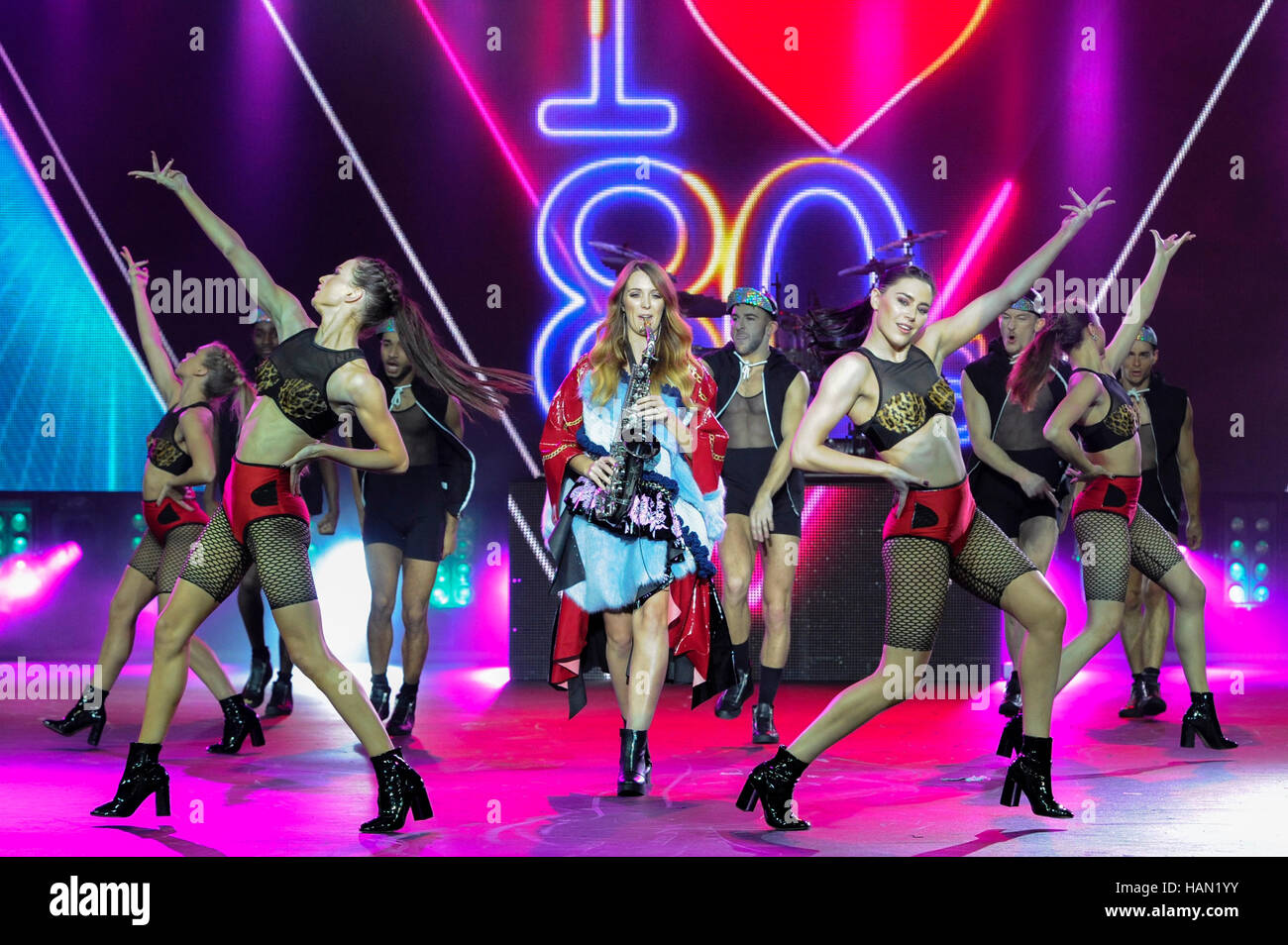 The Clothes Show 2016. Dancers perform during the Rock The Runway themed Alcatel Fashion Theatre, The Clothes Show, - Stock Image