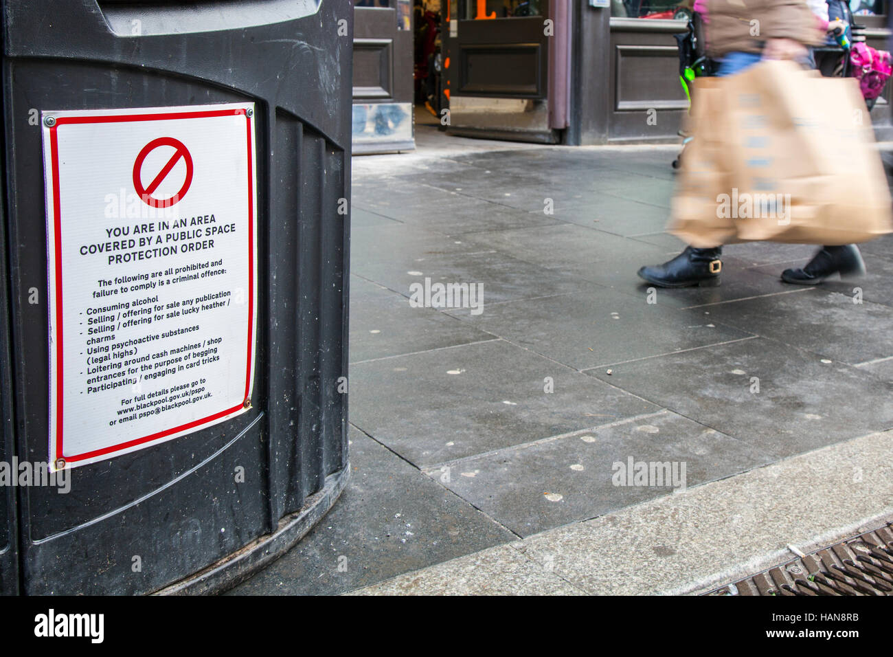 Public Space Protection Order, is order that identifies the public place and prohibits specified things being done - Stock Image