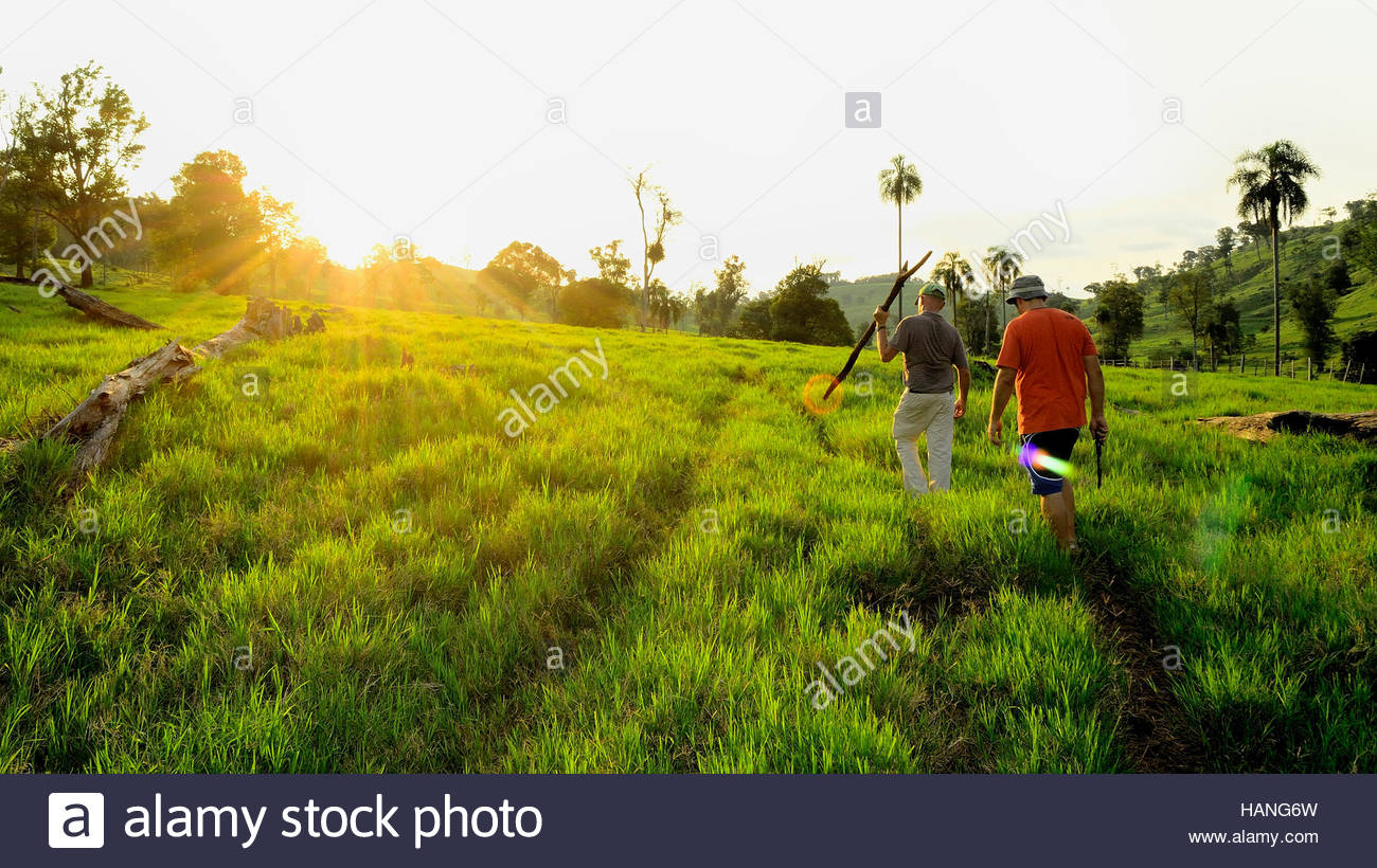 2 Persons in Farm - Stock Image
