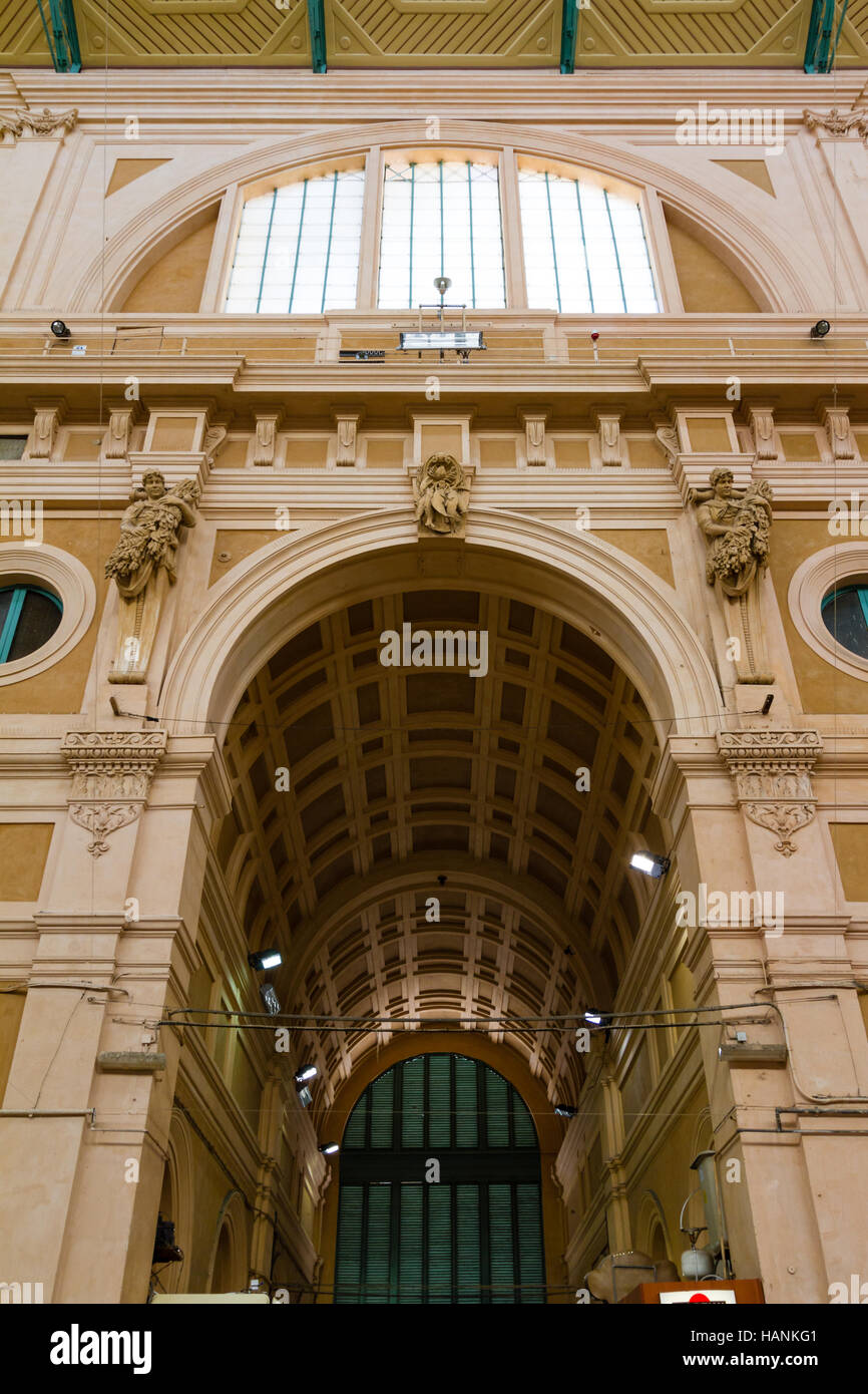 Leghorn, Italy - June 22, 2015:  Victuals market (mercato delle vettovaglie) - Stock Image