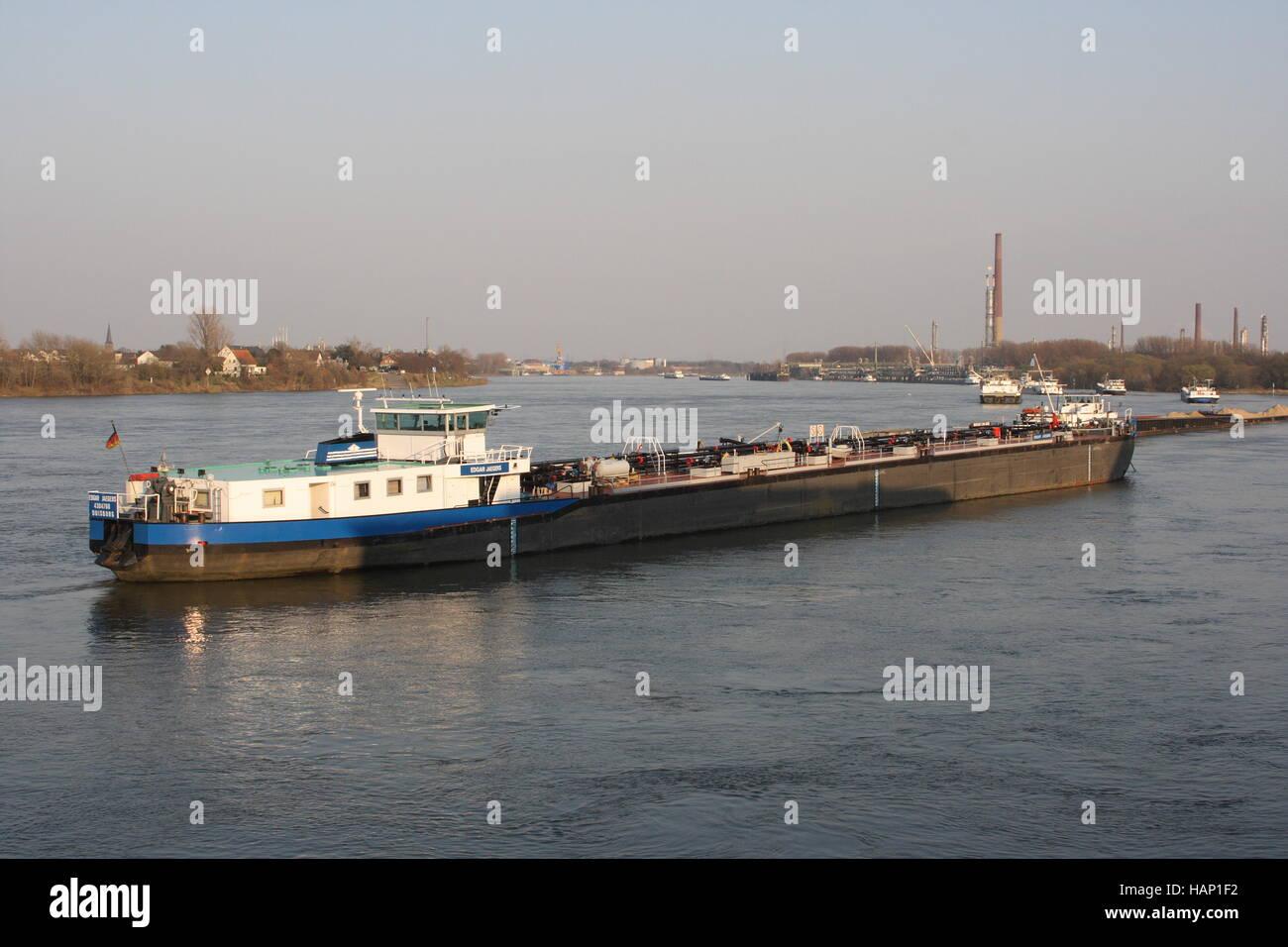 Inland ship - Stock Image