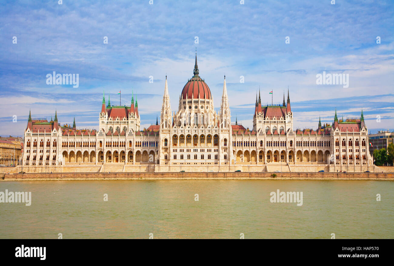 Budapest - The parliament - Stock Image