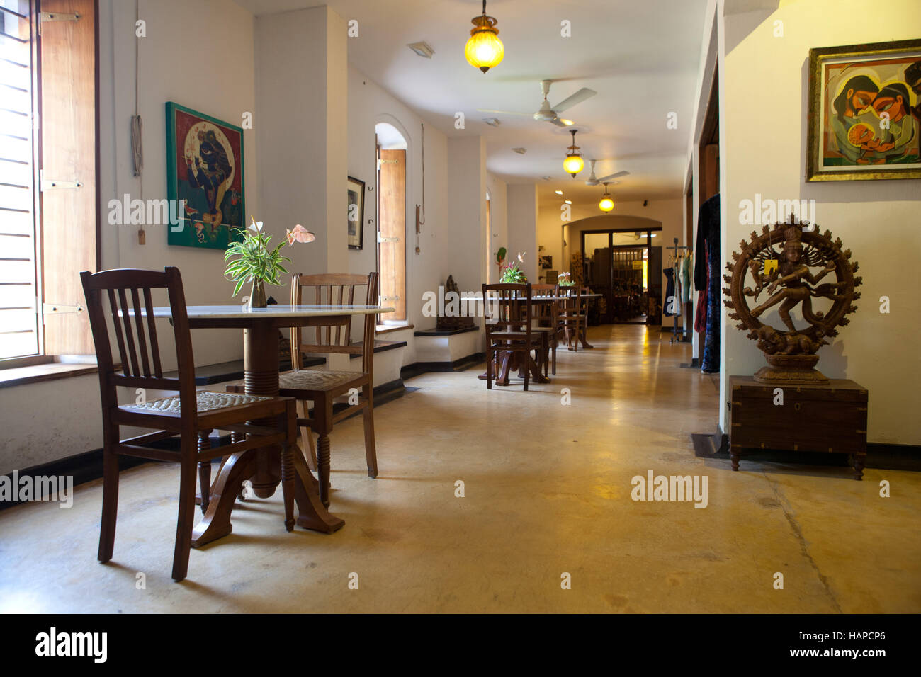 'Ethnic Passage' coffee shop and art gallery in Kochi, Kerala,India - Stock Image
