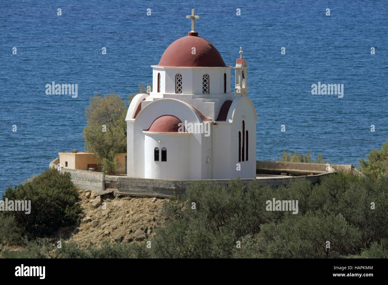 Church in Nea Mirtos. Crete - Stock Image
