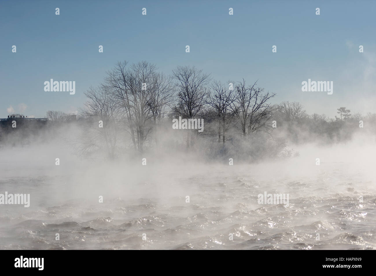 Mist on the River - Stock Image