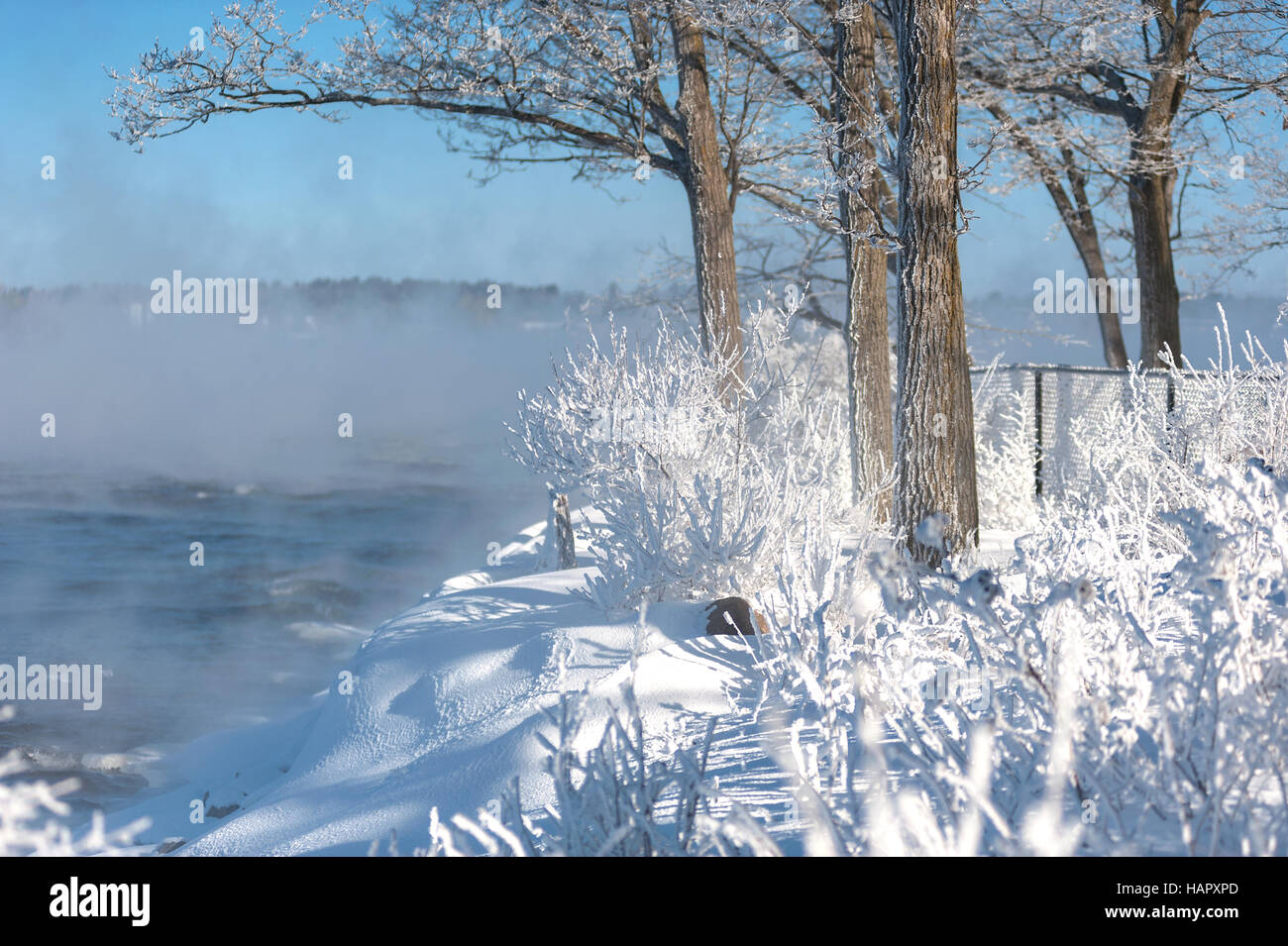 Winter on the River - Stock Image