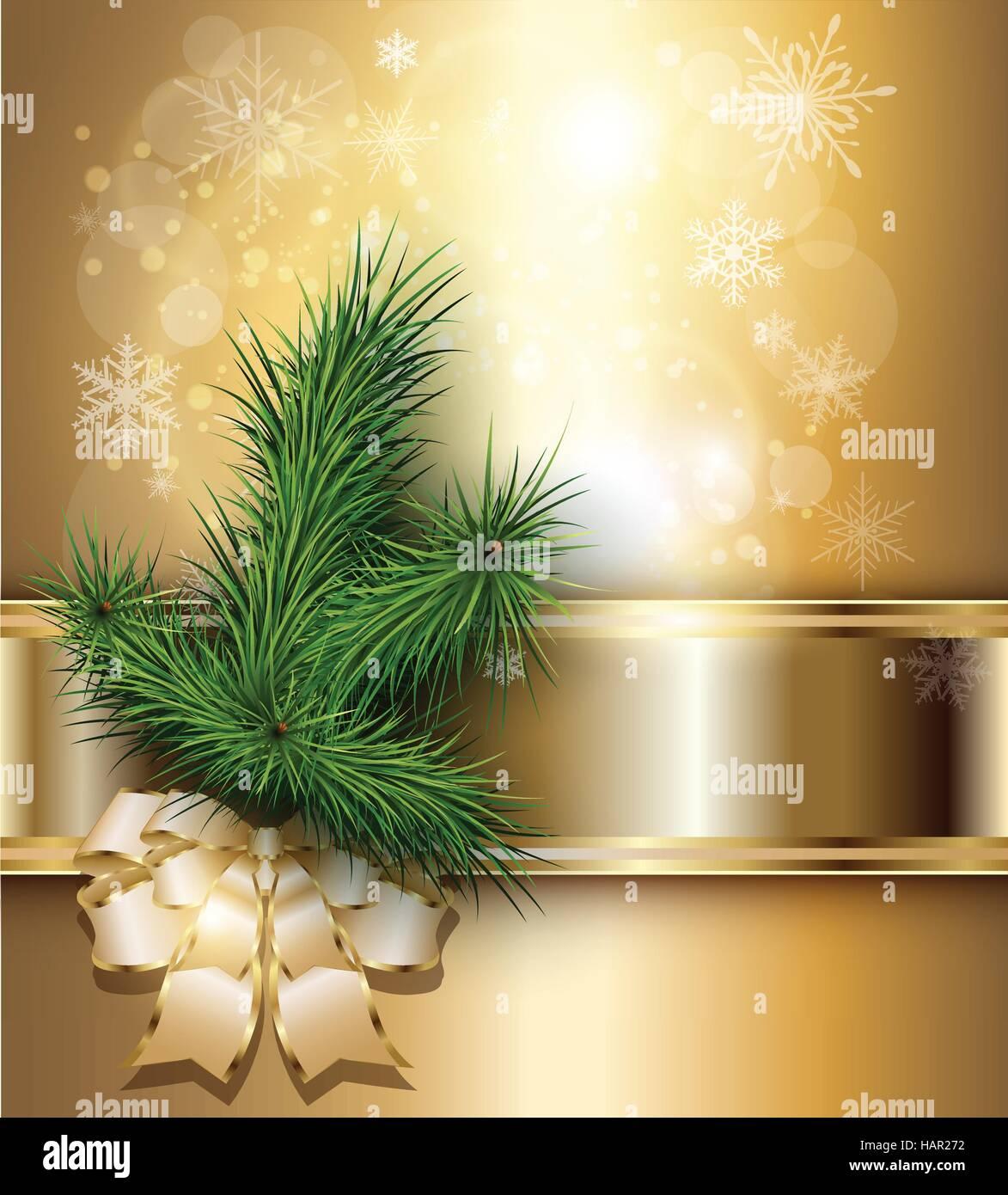 Elegant Christmas Background Hd.Christmas Background With Elegant Gold Banner Christmas