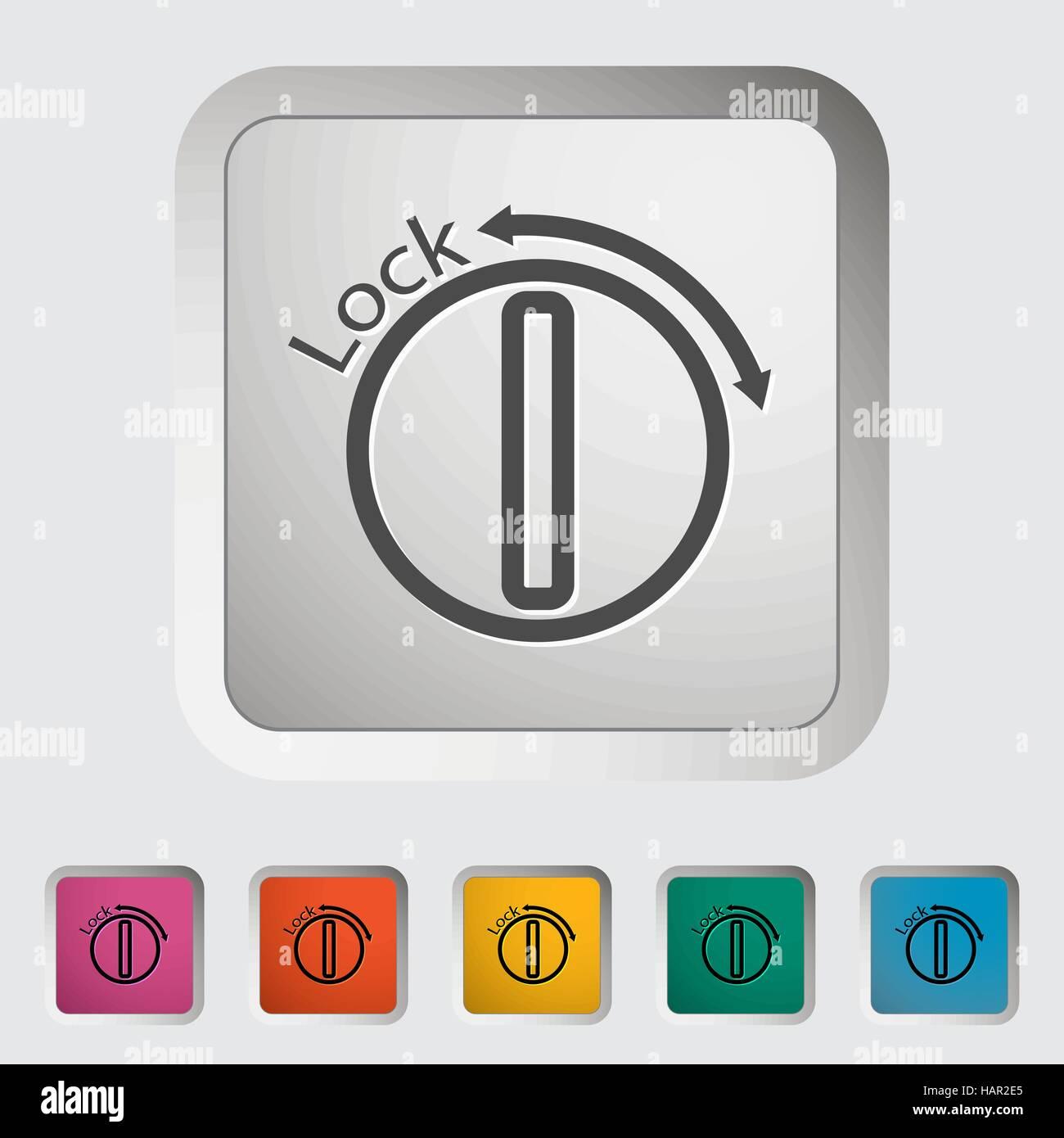 Ignition. Single icon. Vector illustration. - Stock Image