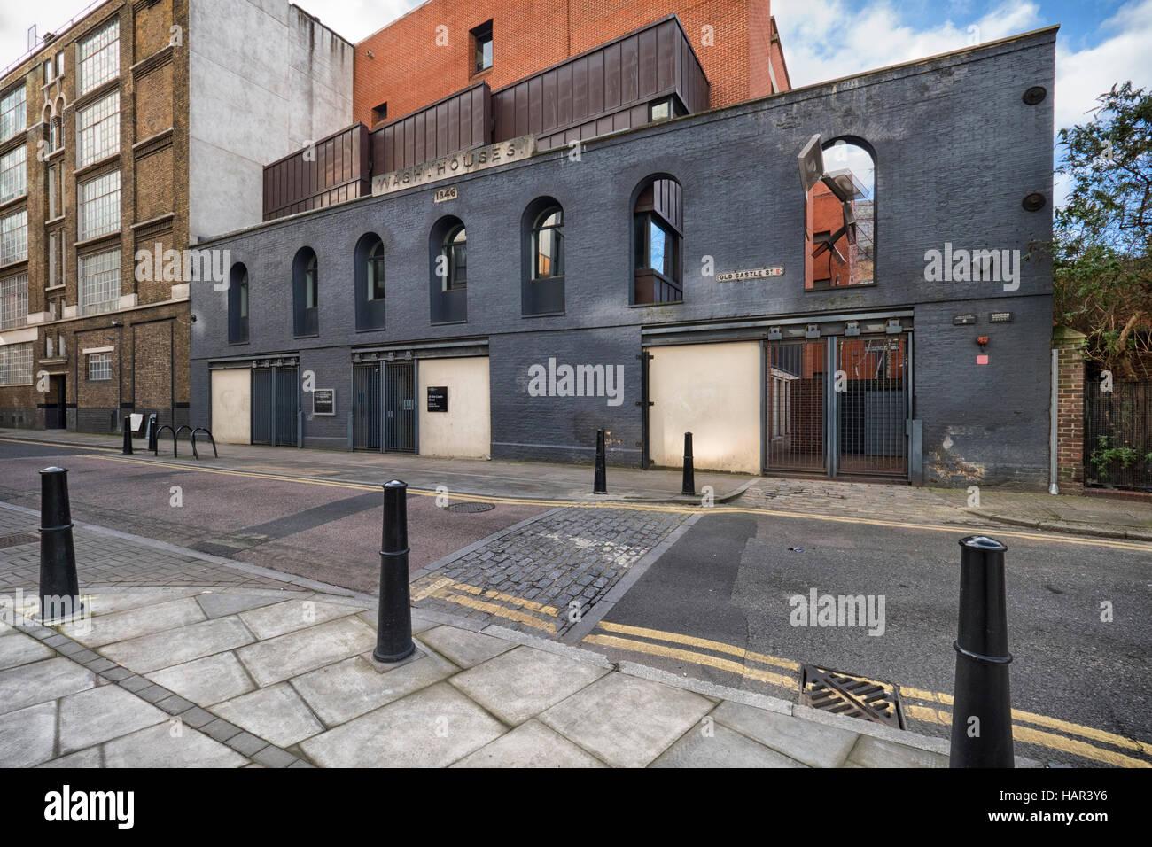Old Castle Street wash house Whitechapel built in 1846 - Stock Image