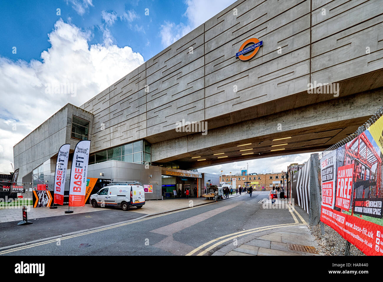 Shoreditch High Street Overground station - Stock Image
