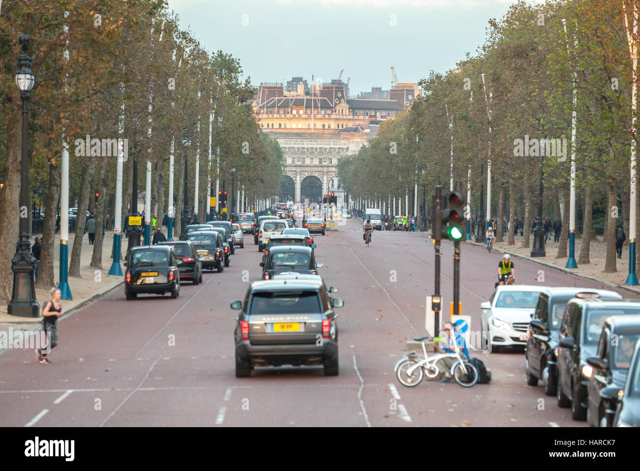 London the Mall road street - Stock Image