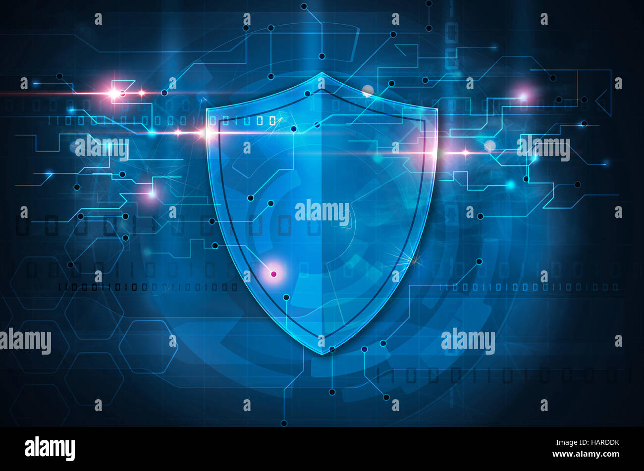 antivirus shield - Stock Image