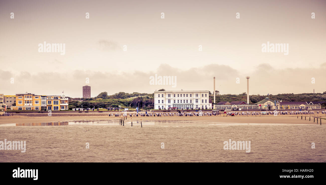 Views from the ferry of Norderney Island, Germany, Europe. Stock Photo