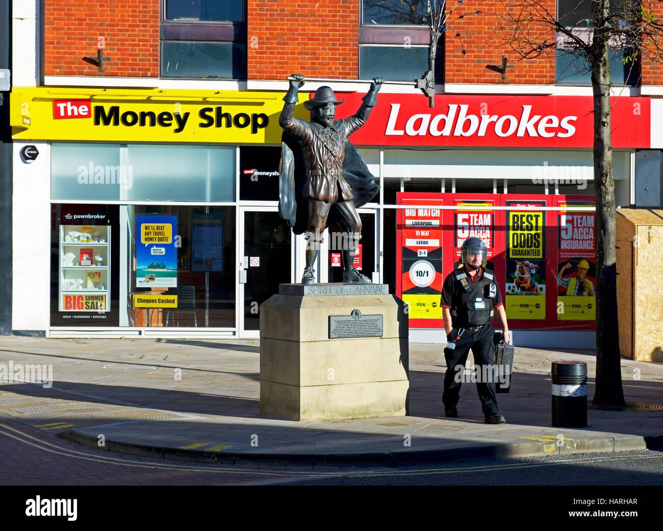 Spirit of Carnival statue in Bridgewater, Somerset, England UK Stock Photo