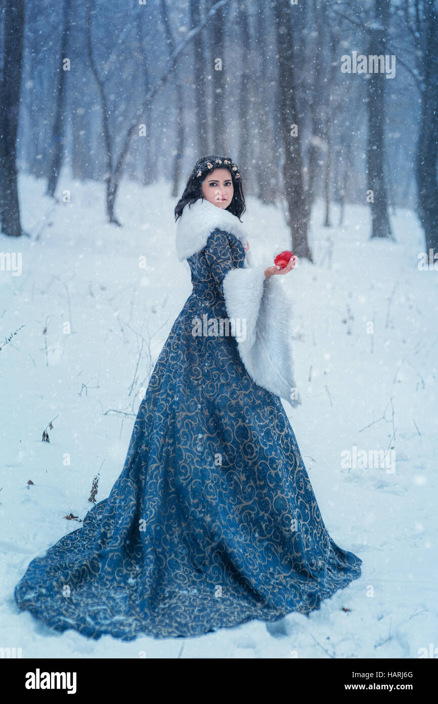 Portrait of Snow White - Stock Image