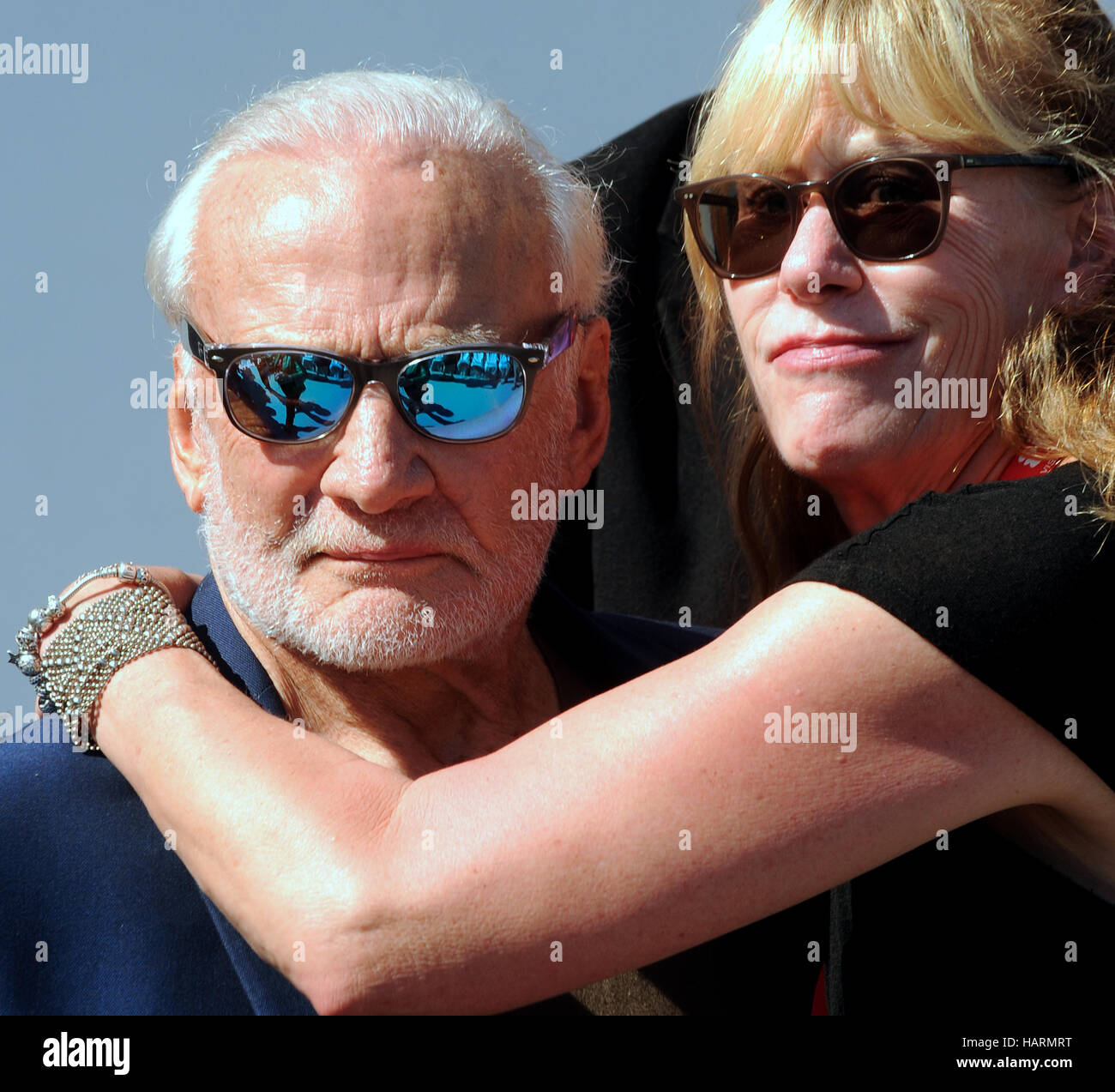 November 11, 2016 - Titusville, Florida, United States - Former astronaut Buzz Aldrin, accompanied by his daughter, - Stock Image