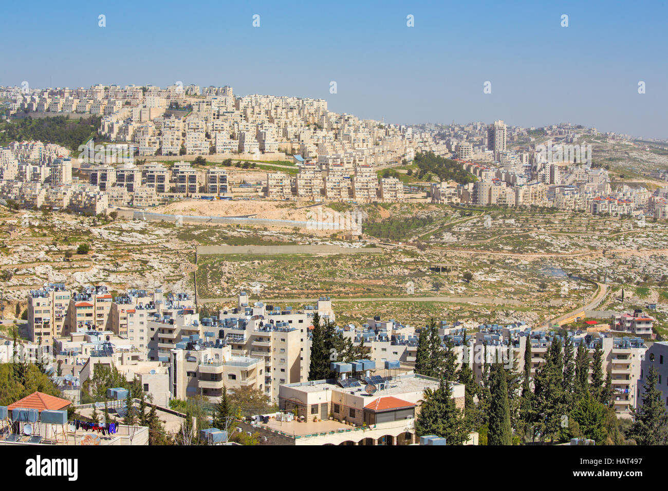 Bethlehem - The new settlements - Stock Image