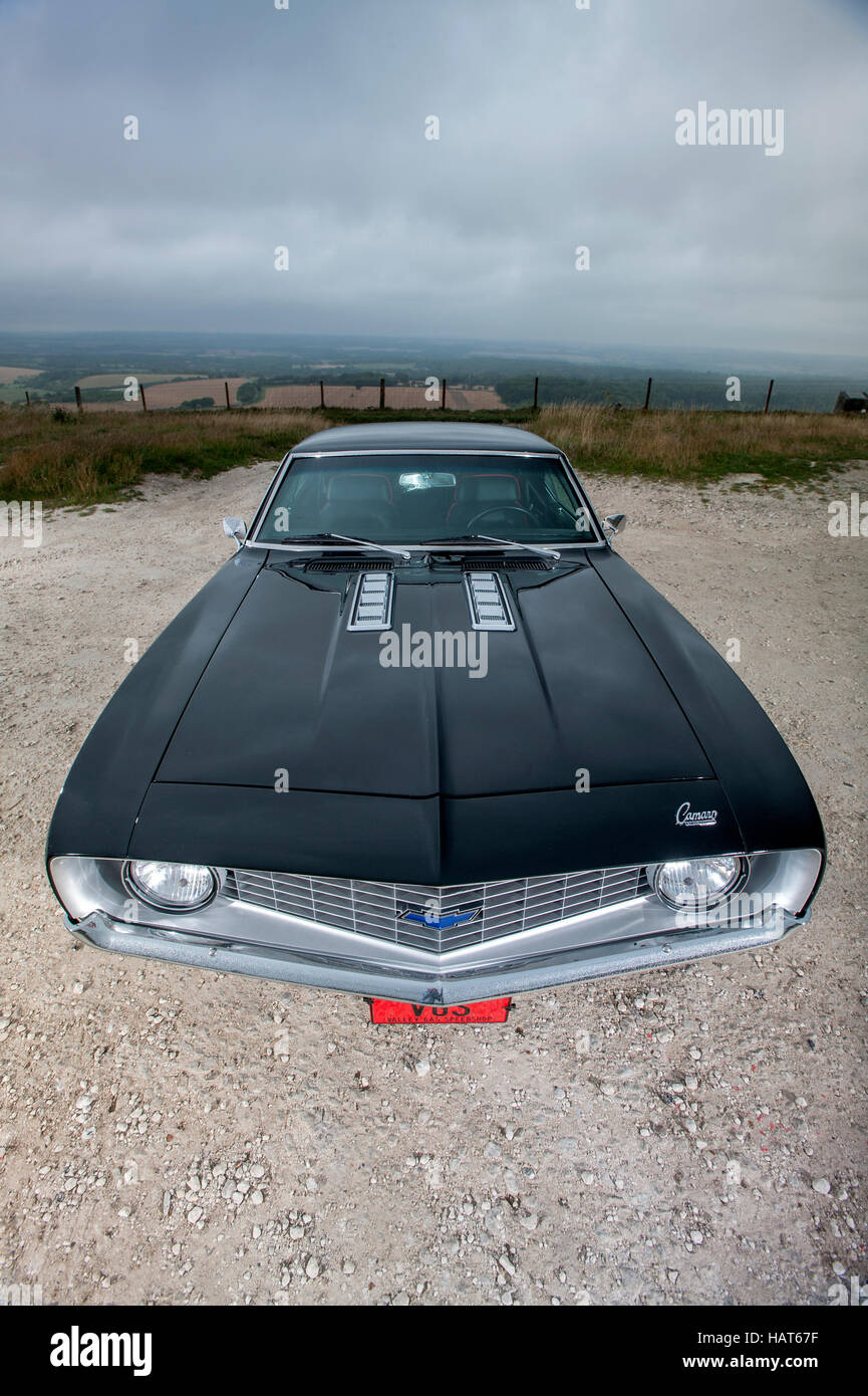 1969 chevrolet camaro muscle car stock image
