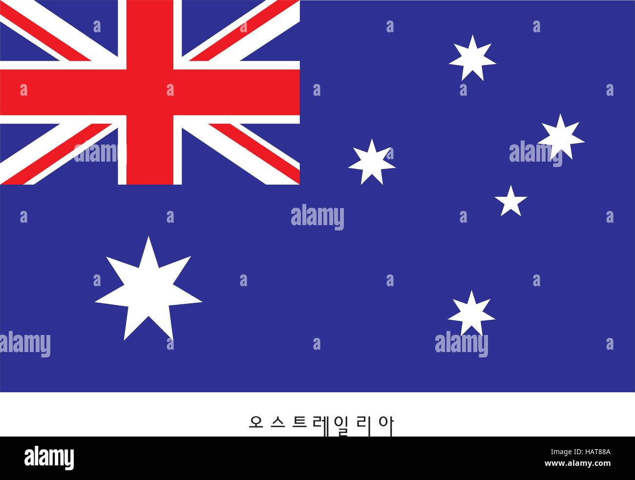 National Symbols Flag Australia Stock Vector Images Alamy