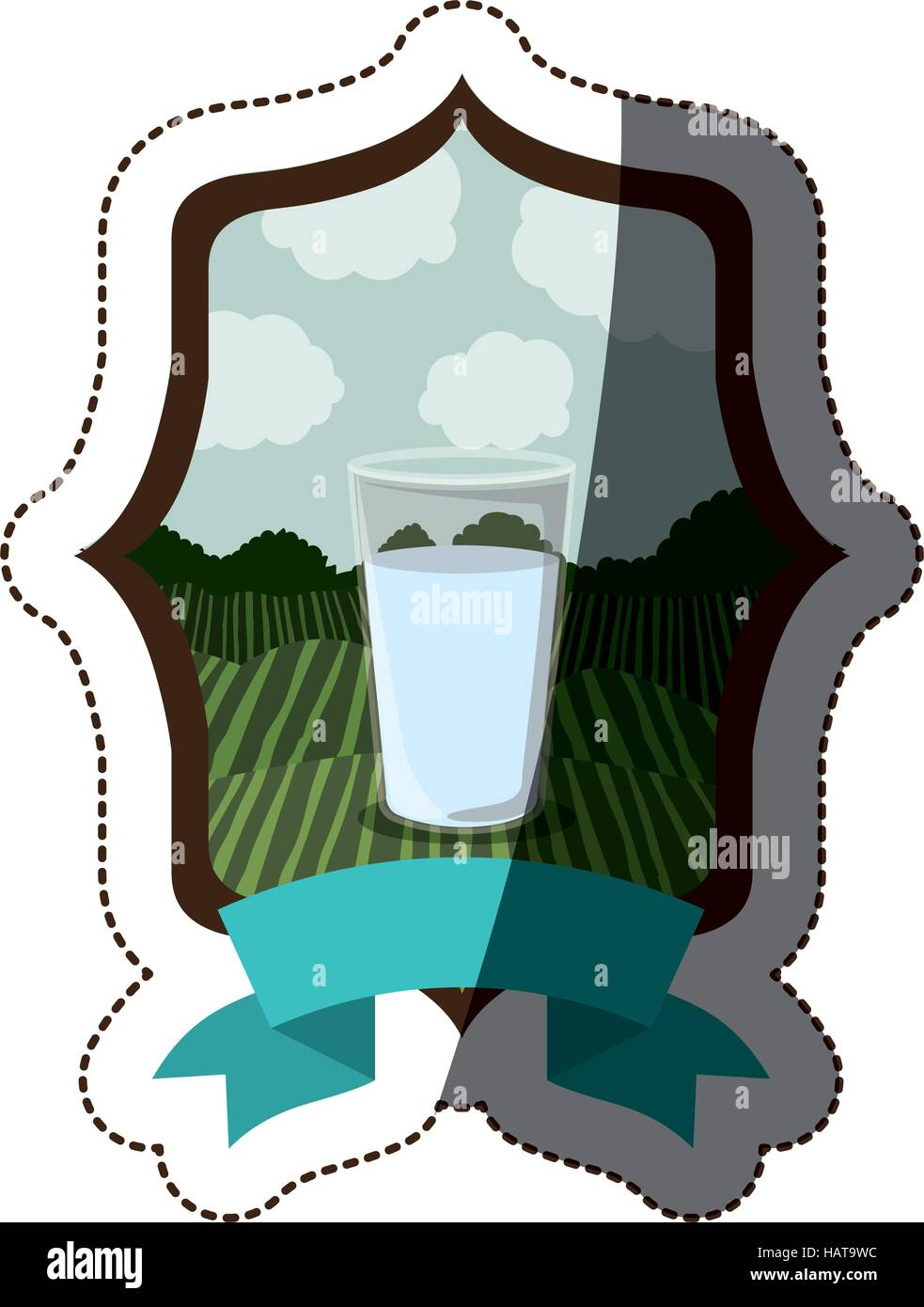 Glass icon. Machine tool instrument farm and agriculture theme. Isolated design. Vector illustration - Stock Vector