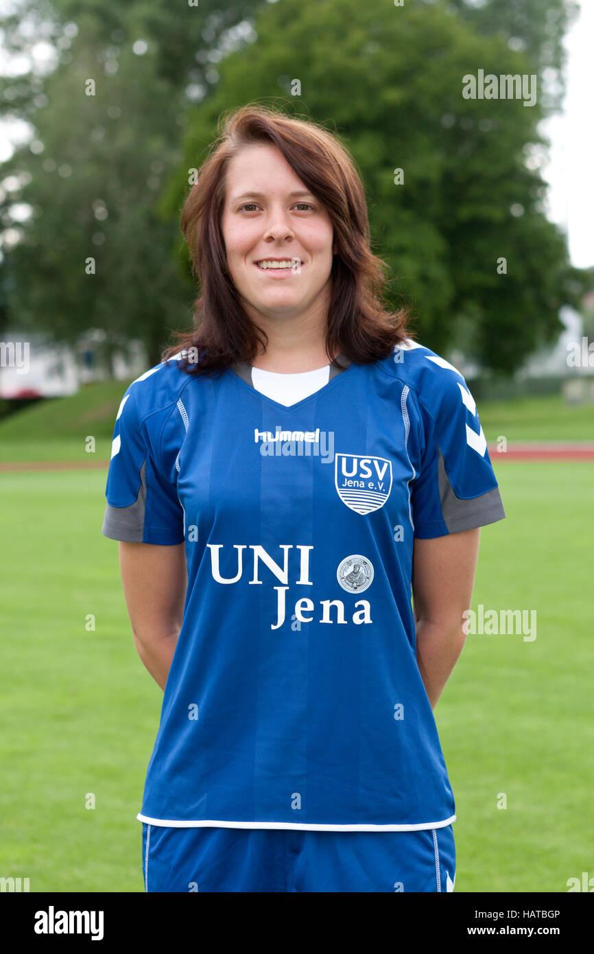 Mannschaft des Frauenfußball FF USV Jena - Stock Image
