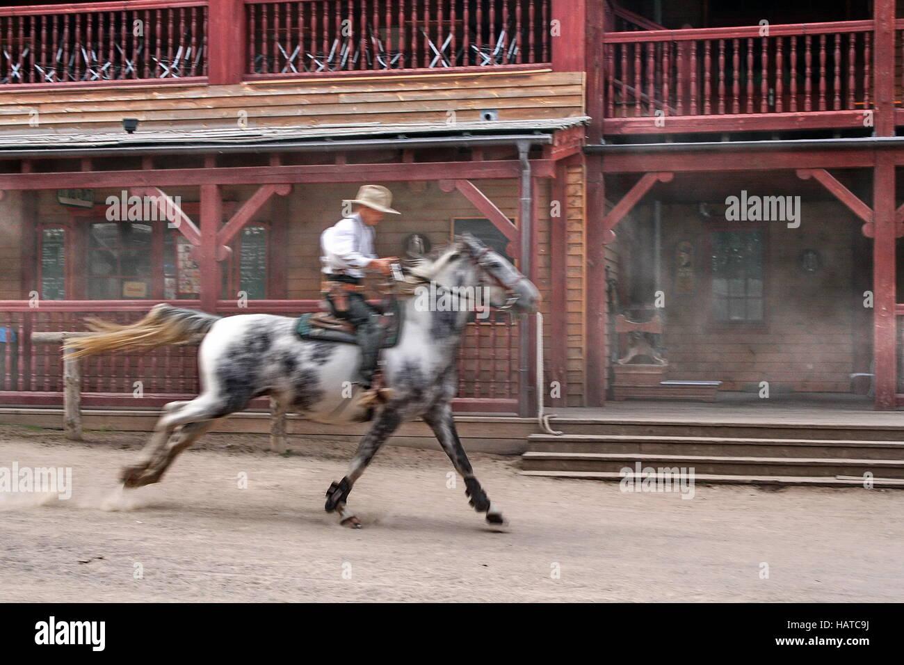 western town EL DORADO Templin - Stock Image