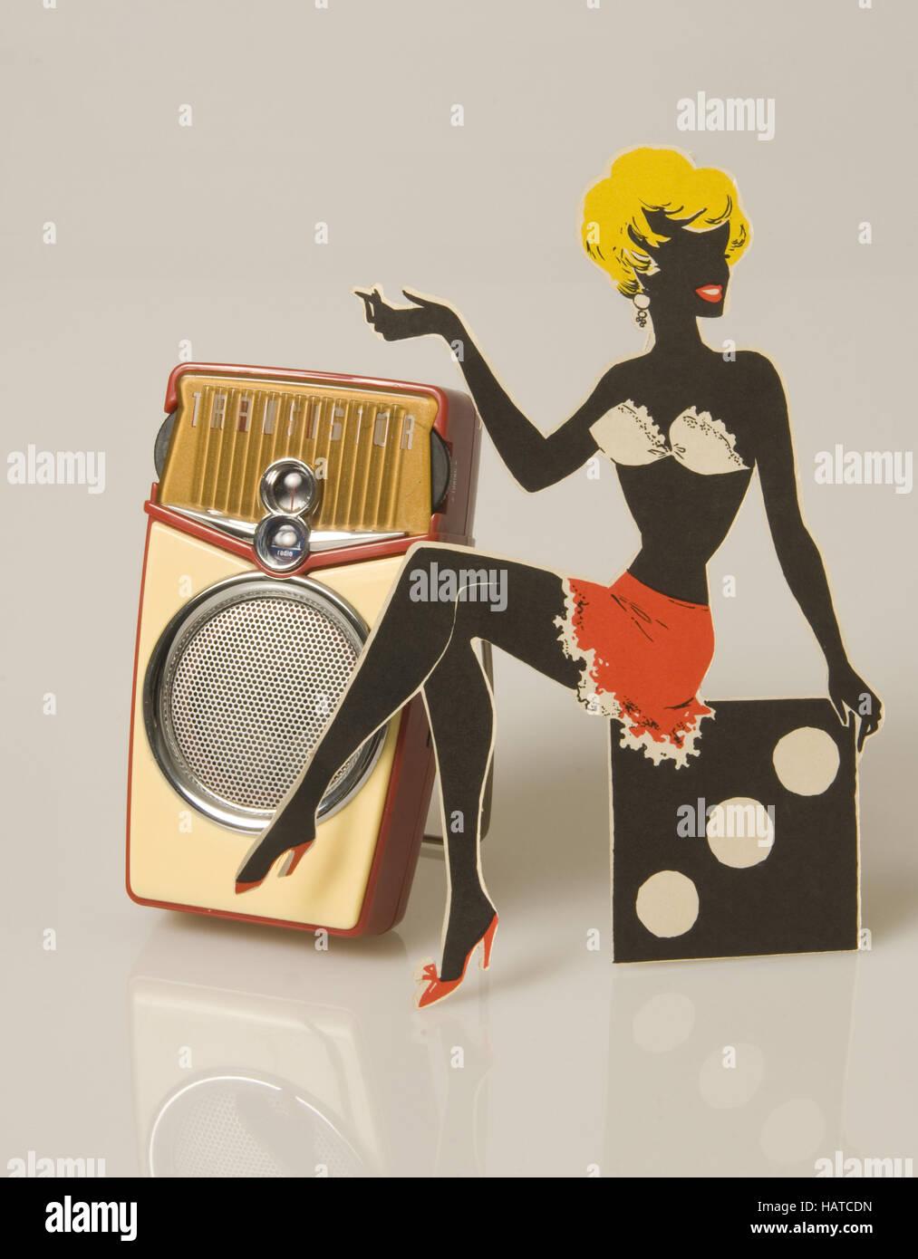 portable radio 50s Stock Photo