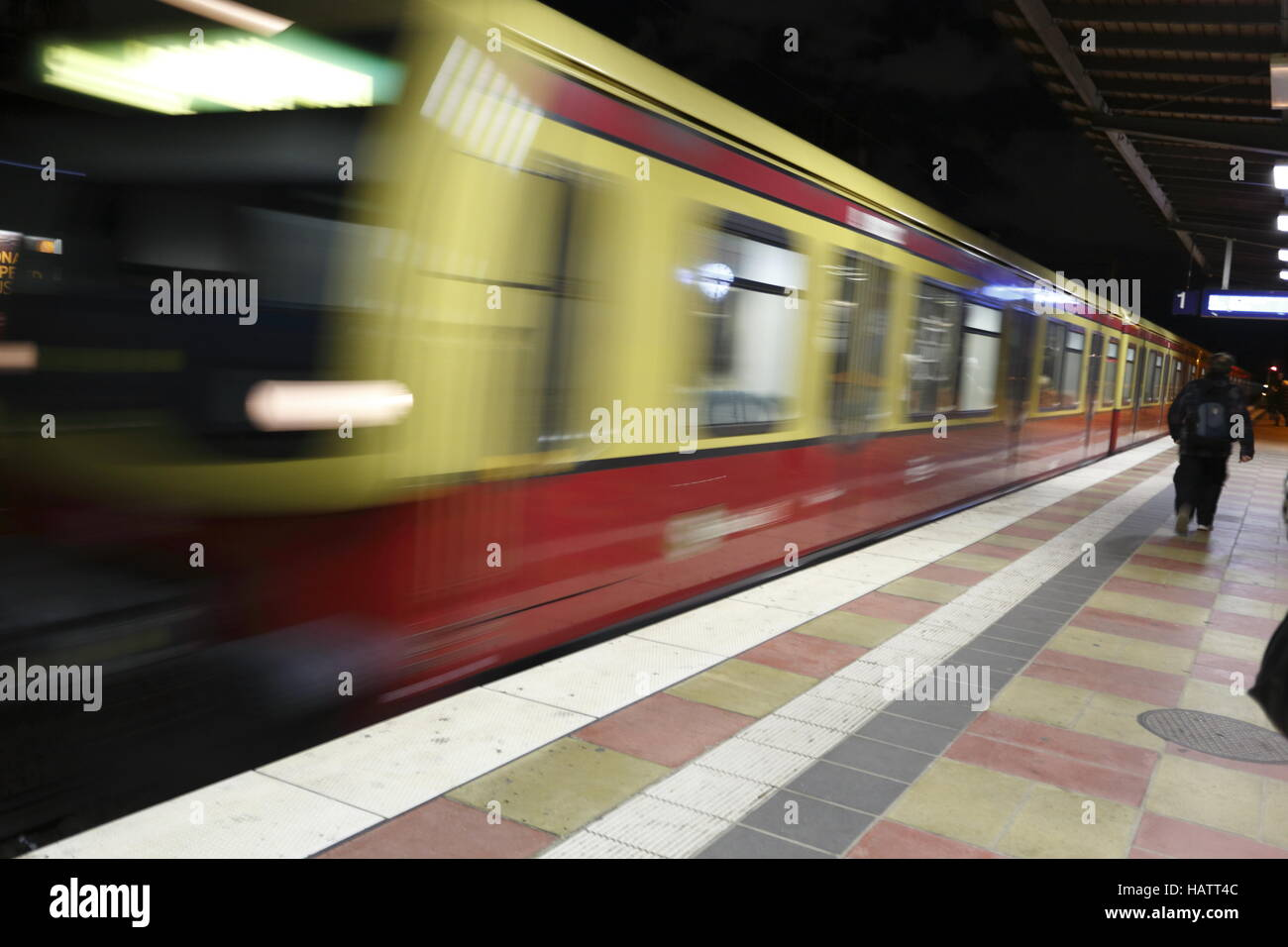 personal station s - bahn - Stock Image