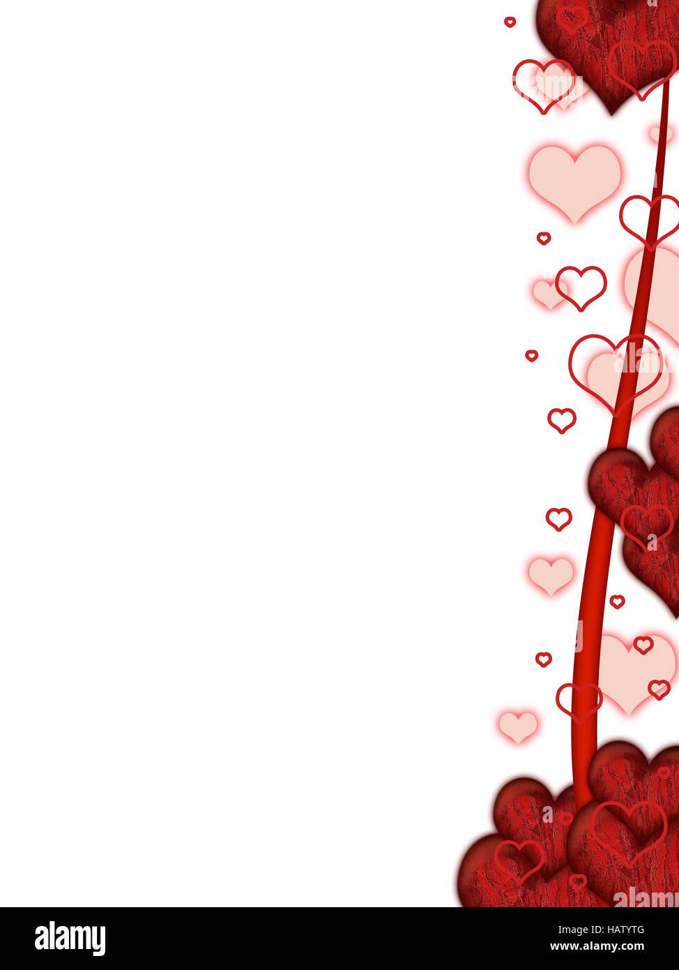Valentinstag Karte rot - Stock Image