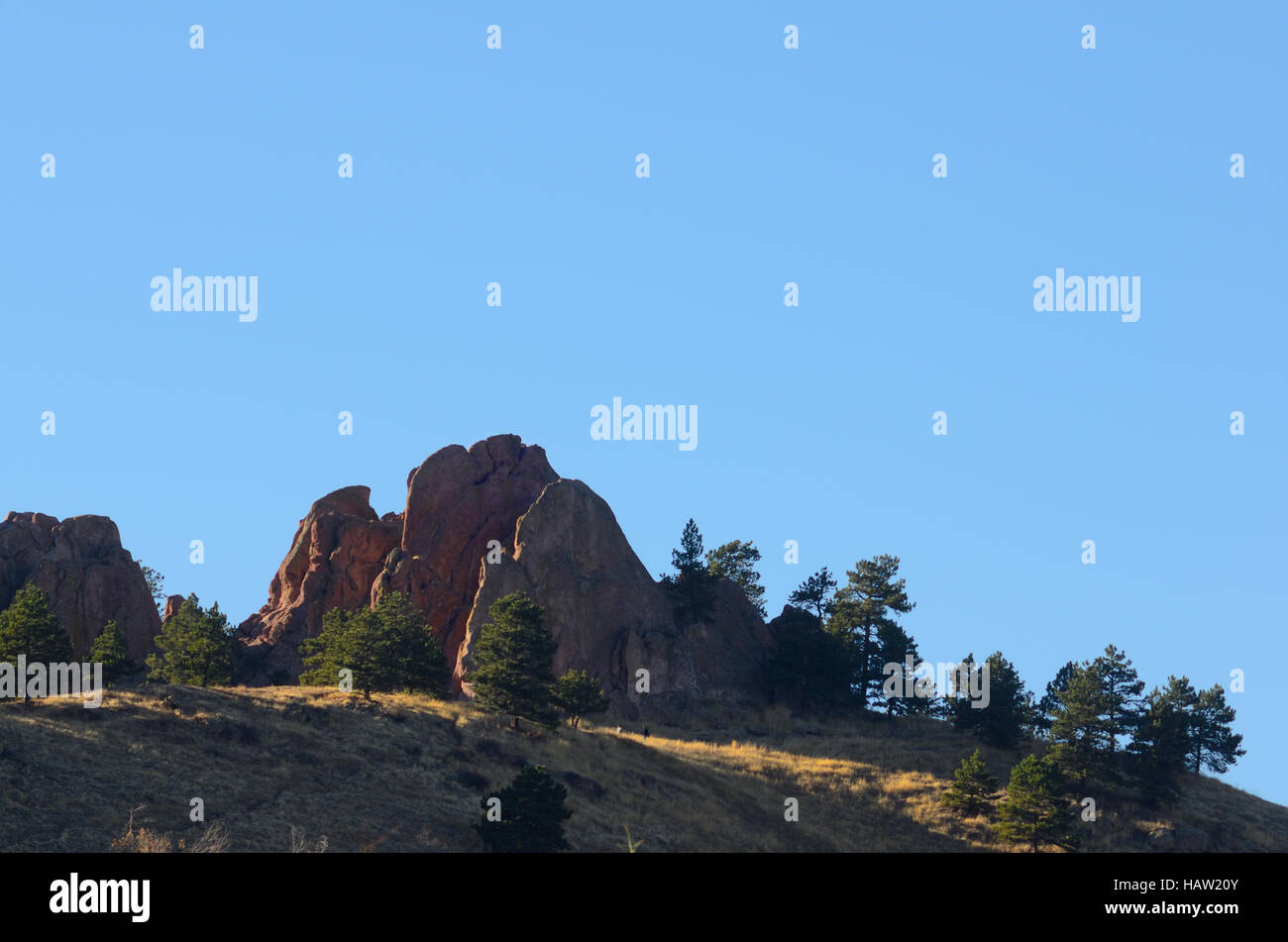 Fins of the Red Rocks, Boulder Open Space, Settler's Park - Stock Image