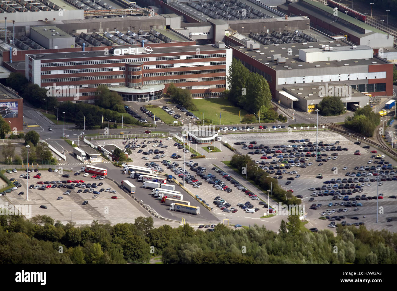 car manufacturers / opel factory - Stock Image